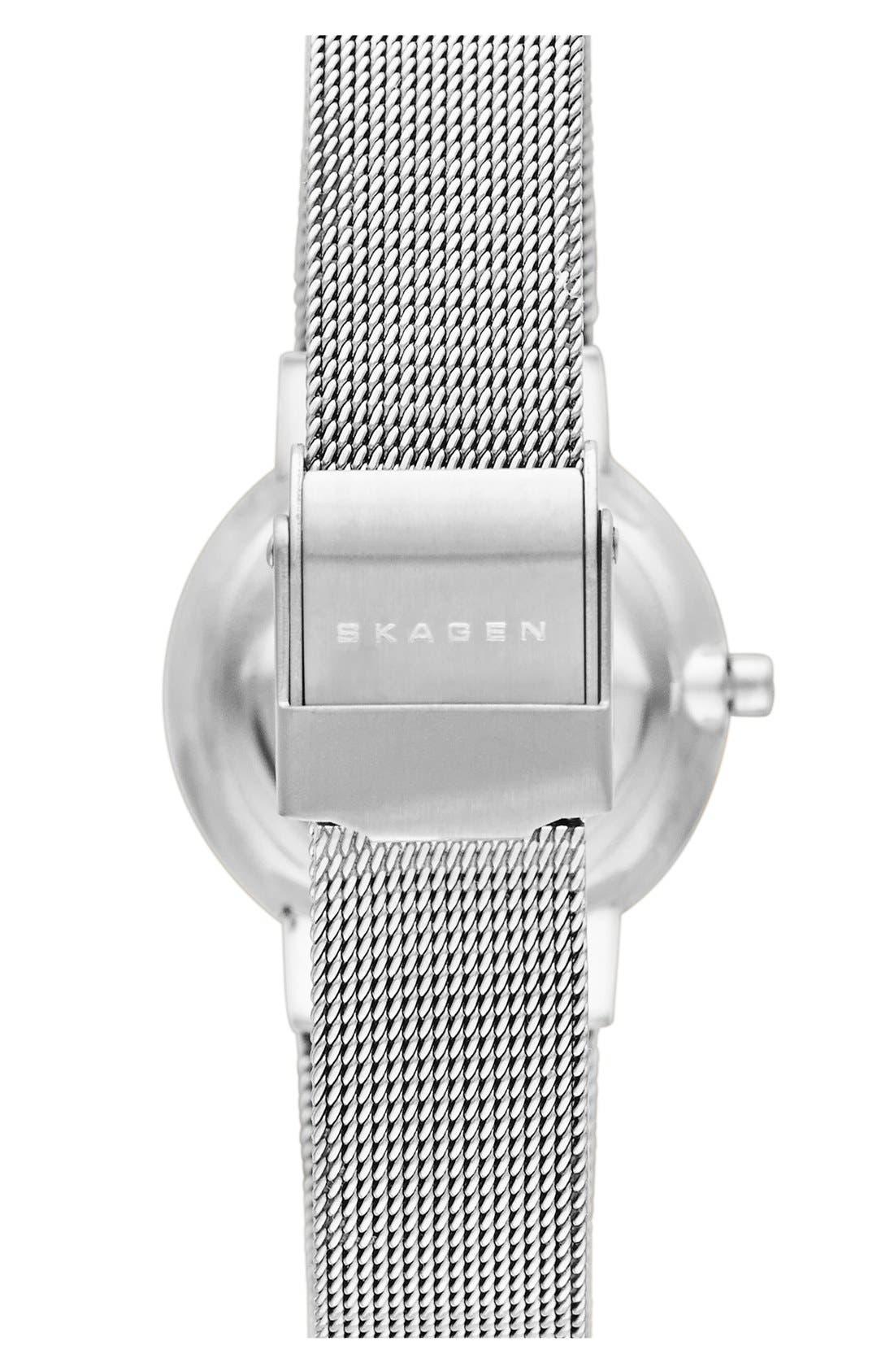 Alternate Image 2  - Skagen 'Ancher' Crystal Index Mesh Strap Watch, 26mm