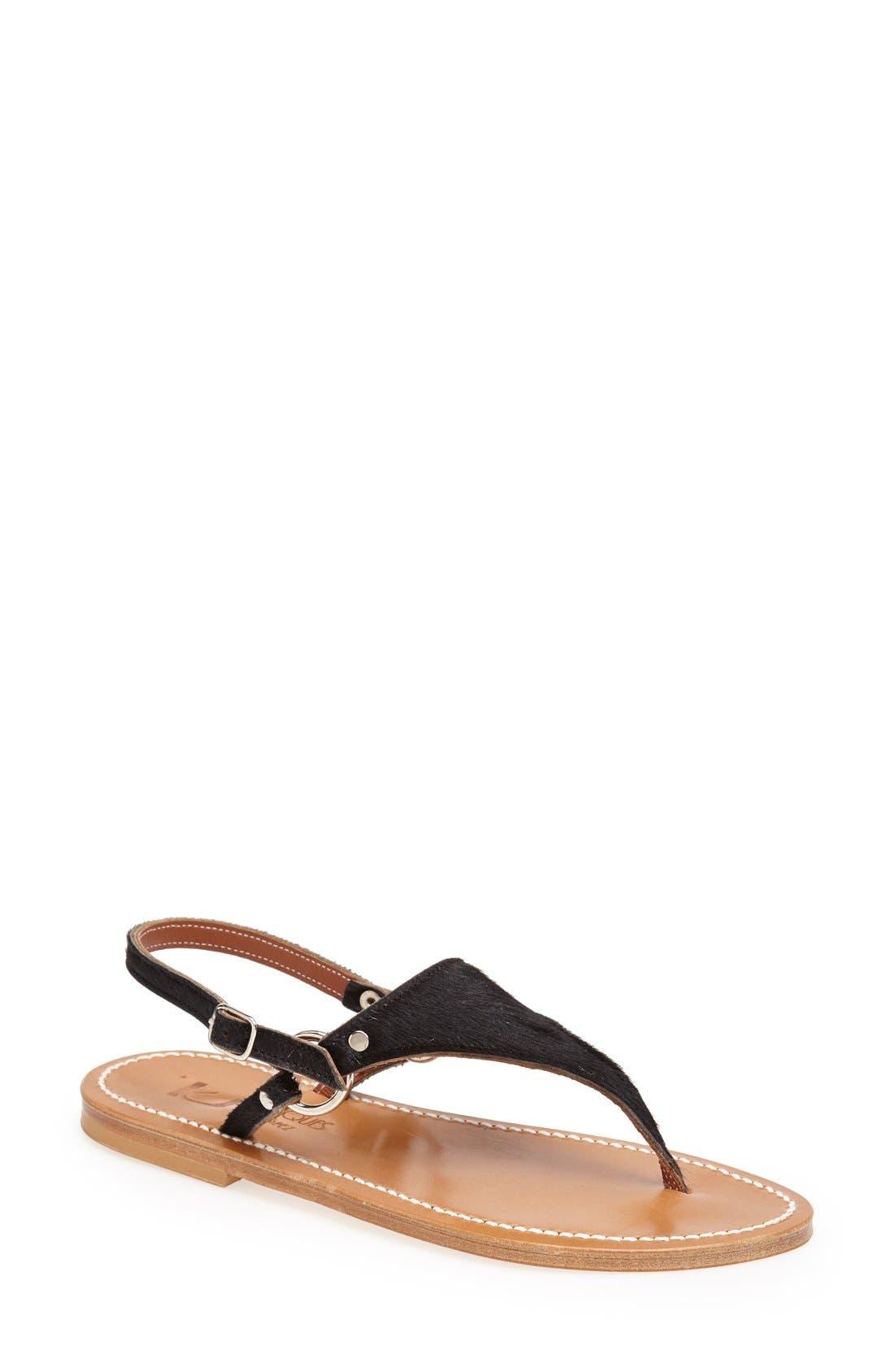 Main Image - K.Jacques St. Tropez 'Triton' V Strap Calf Hair Thong Sandal (Women)