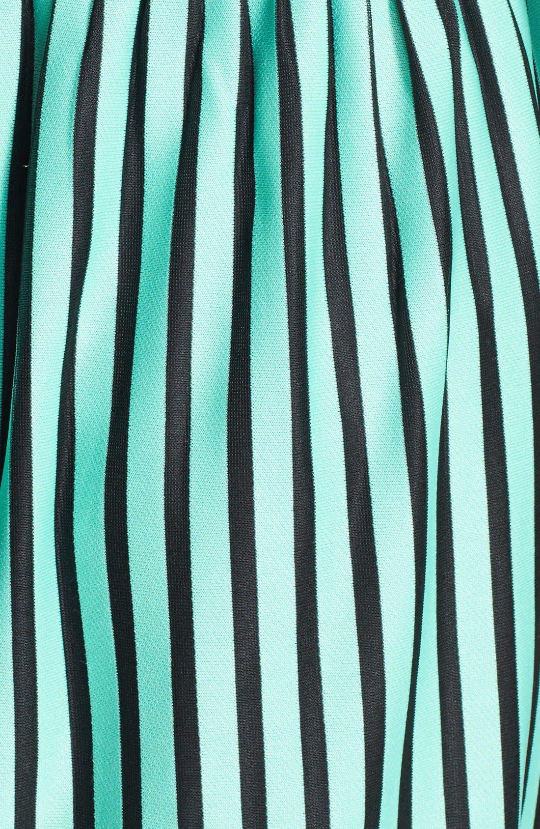 Alternate Image 3  - Everly Stripe Skater Dress (Juniors)