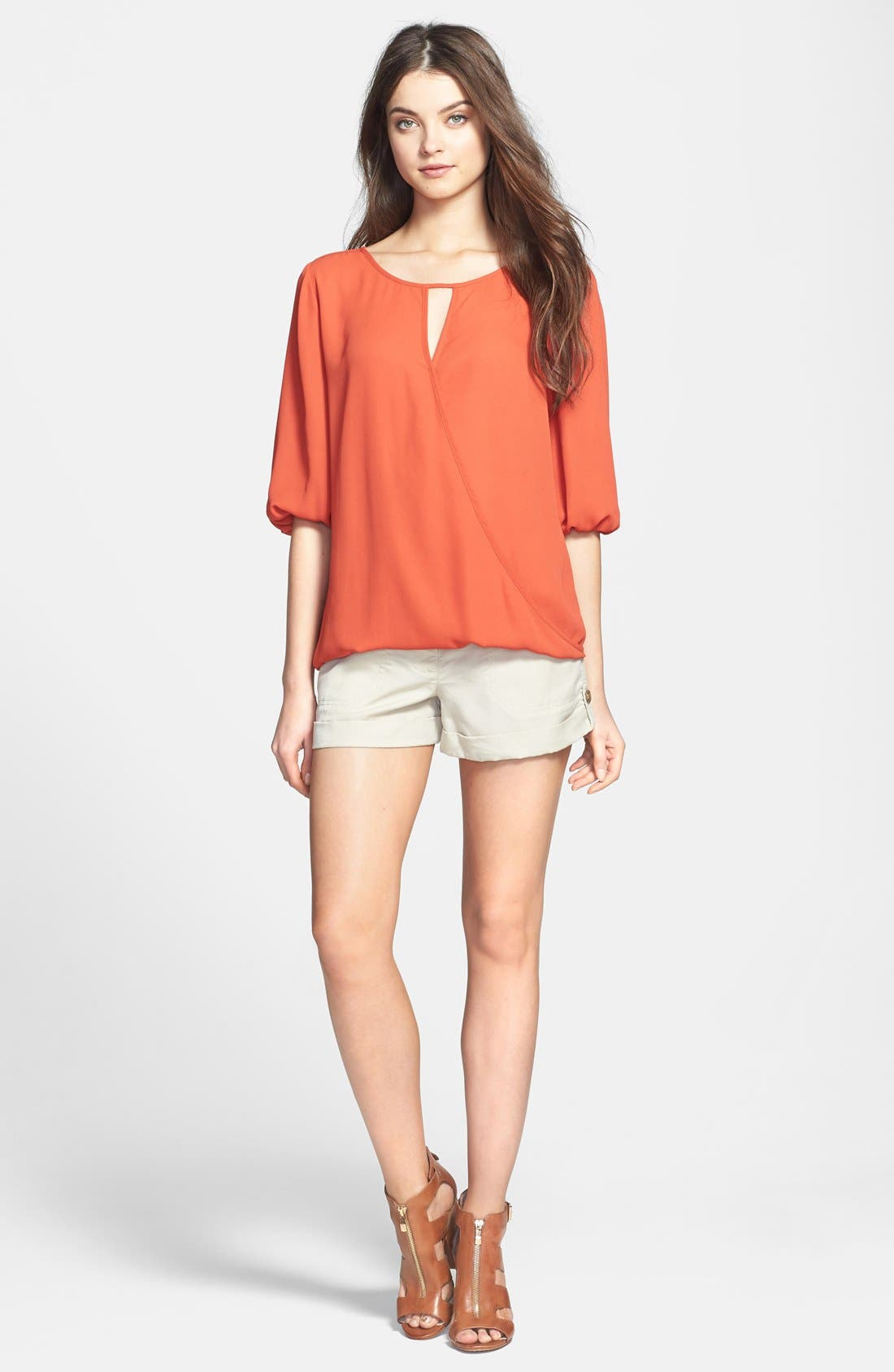 Alternate Image 4  - Two by Vince Camuto Faux Wrap Front Blouse