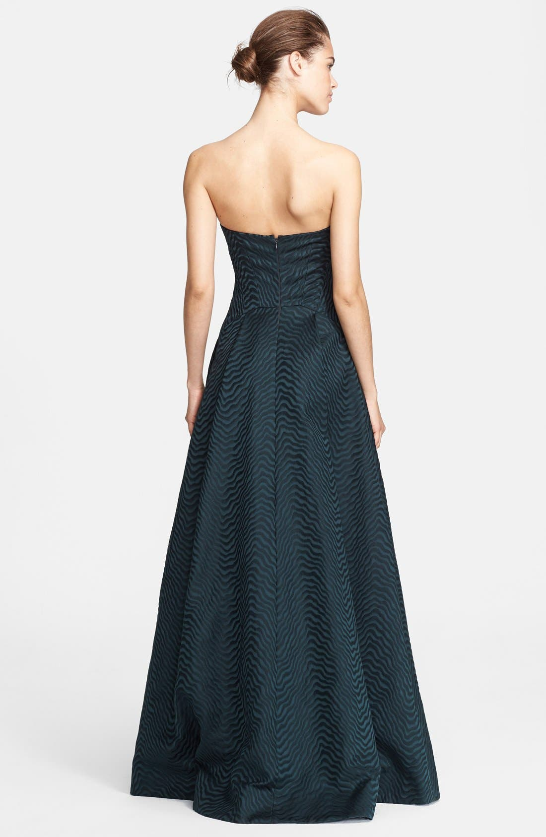 Alternate Image 2  - Jason Wu Jacquard Strapless A-Line Gown