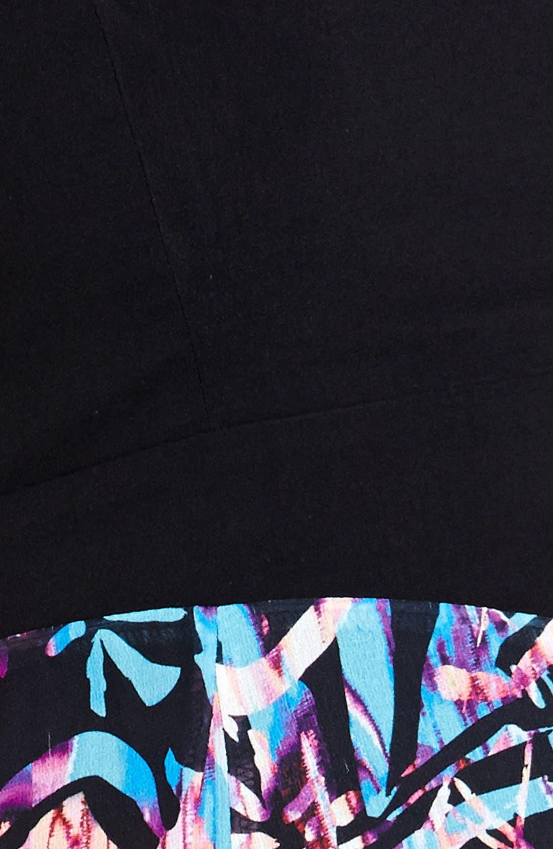Alternate Image 3  - City Chic Jungle Print High/Low Maxi Dress (Plus Size)