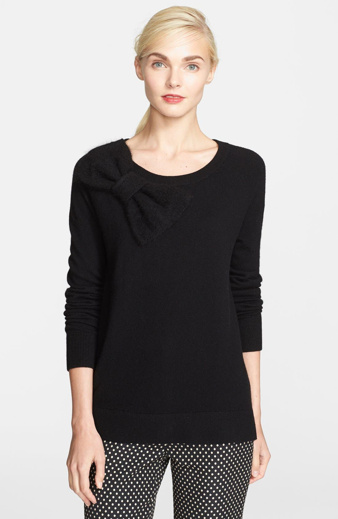 Main Image - kate spade new york bow detail slouchy sweater