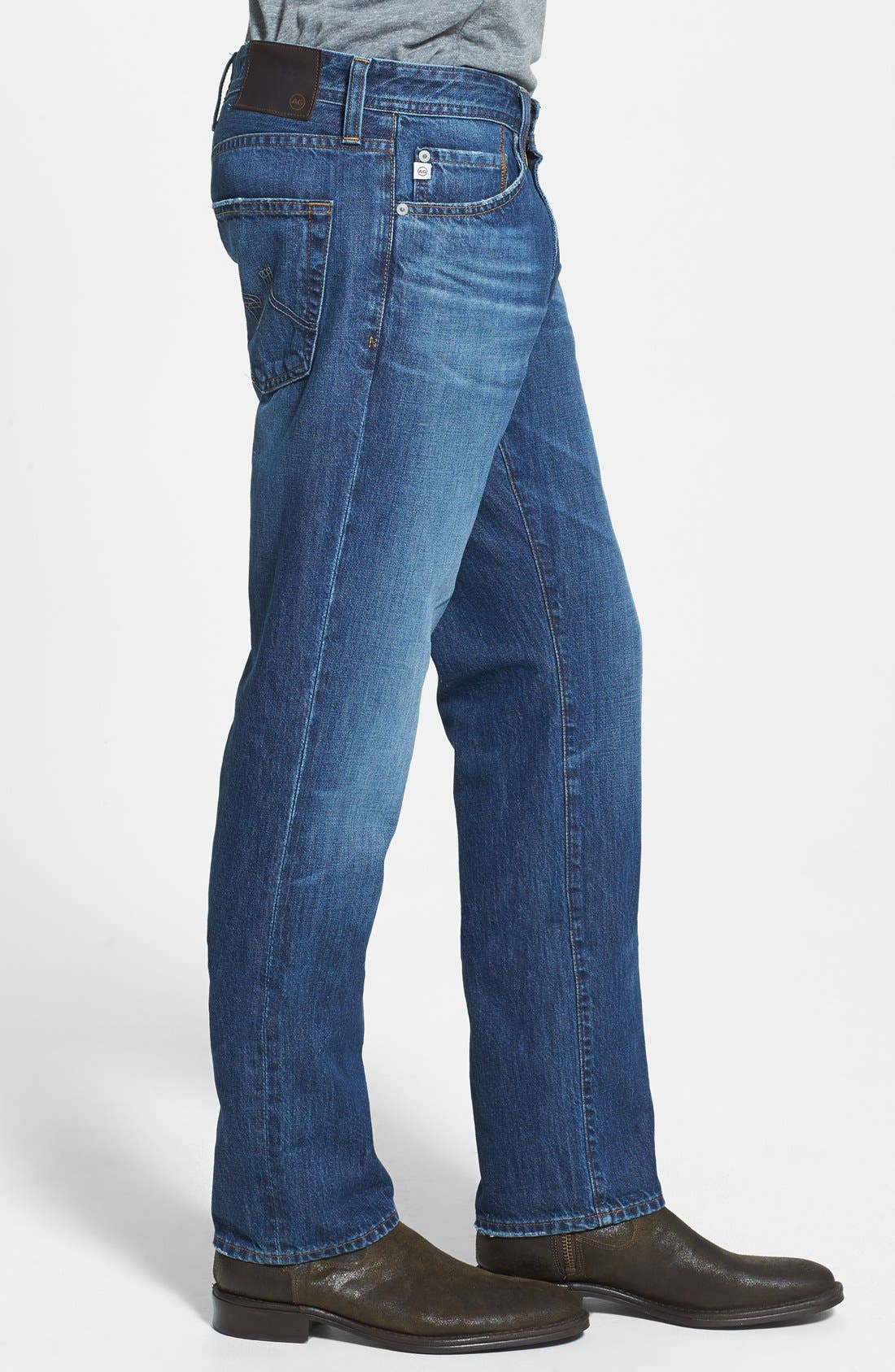 Alternate Image 3  - AG 'Graduate' Tailored Fit Straight Leg Jeans (4 Year Idlewood)