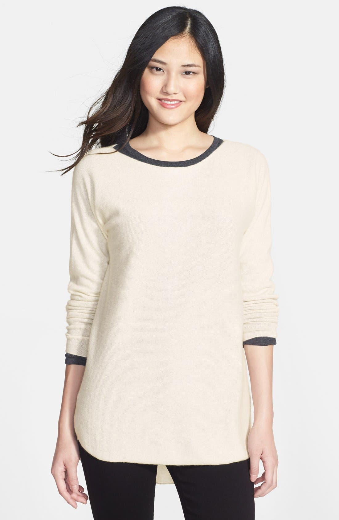 Alternate Image 1 Selected - Halogen® High/Low Hem Cashmere Sweater (Online Only)