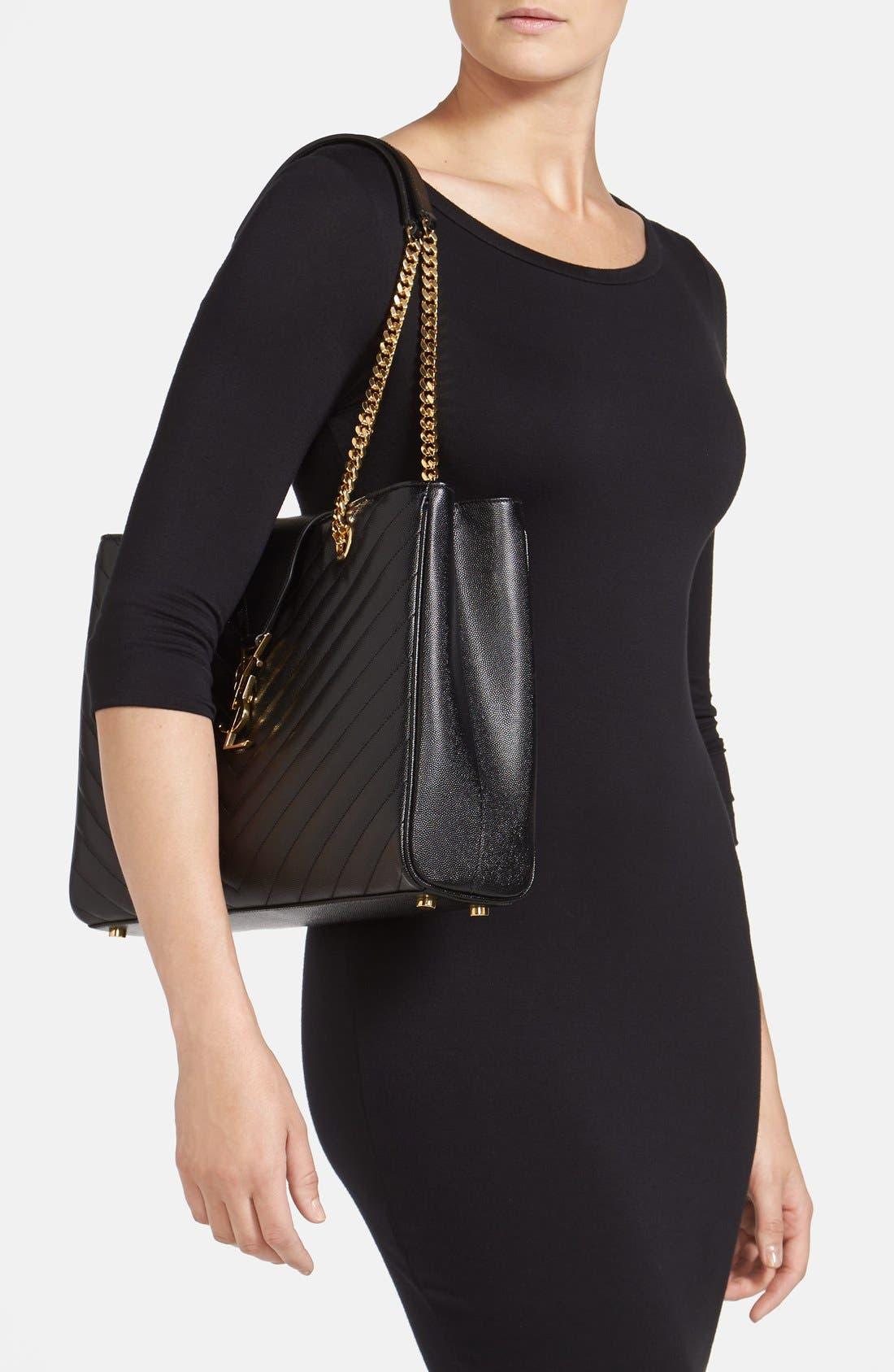 Alternate Image 2  - Saint Laurent 'Monogram' Leather Shopper