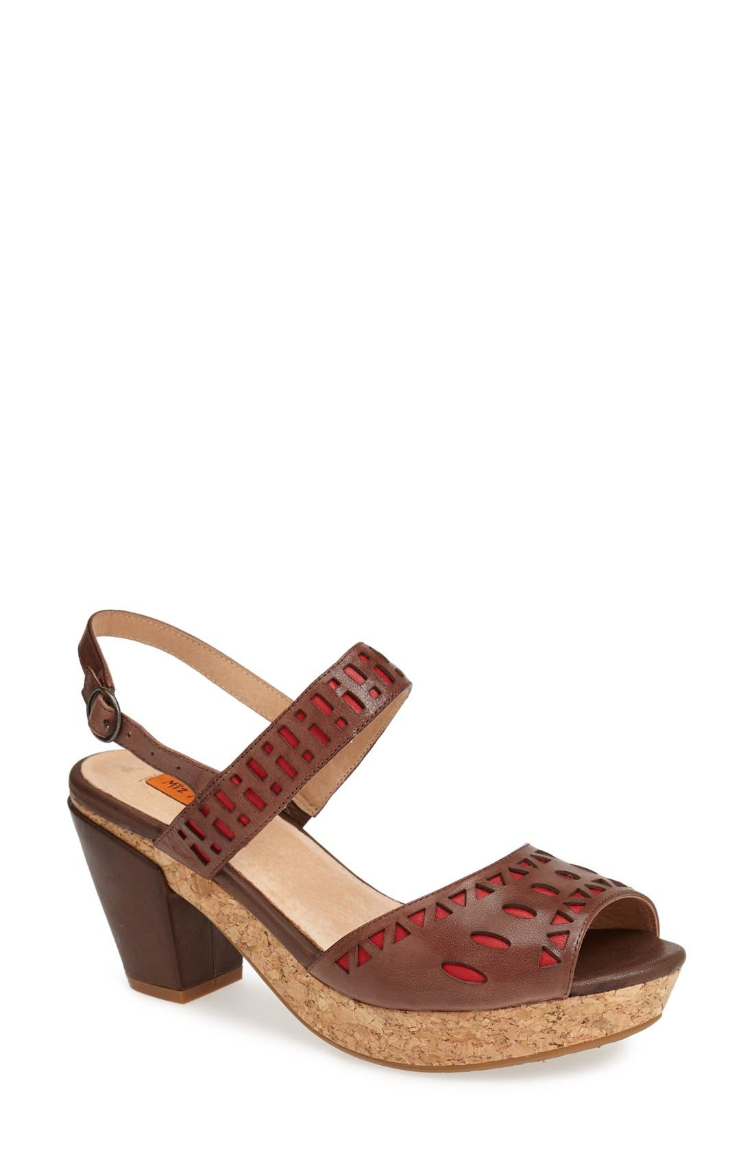 Alternate Image 1 Selected - Miz Mooz 'Roma' Perforated Leather Sandal (Women)(Special Purchase)