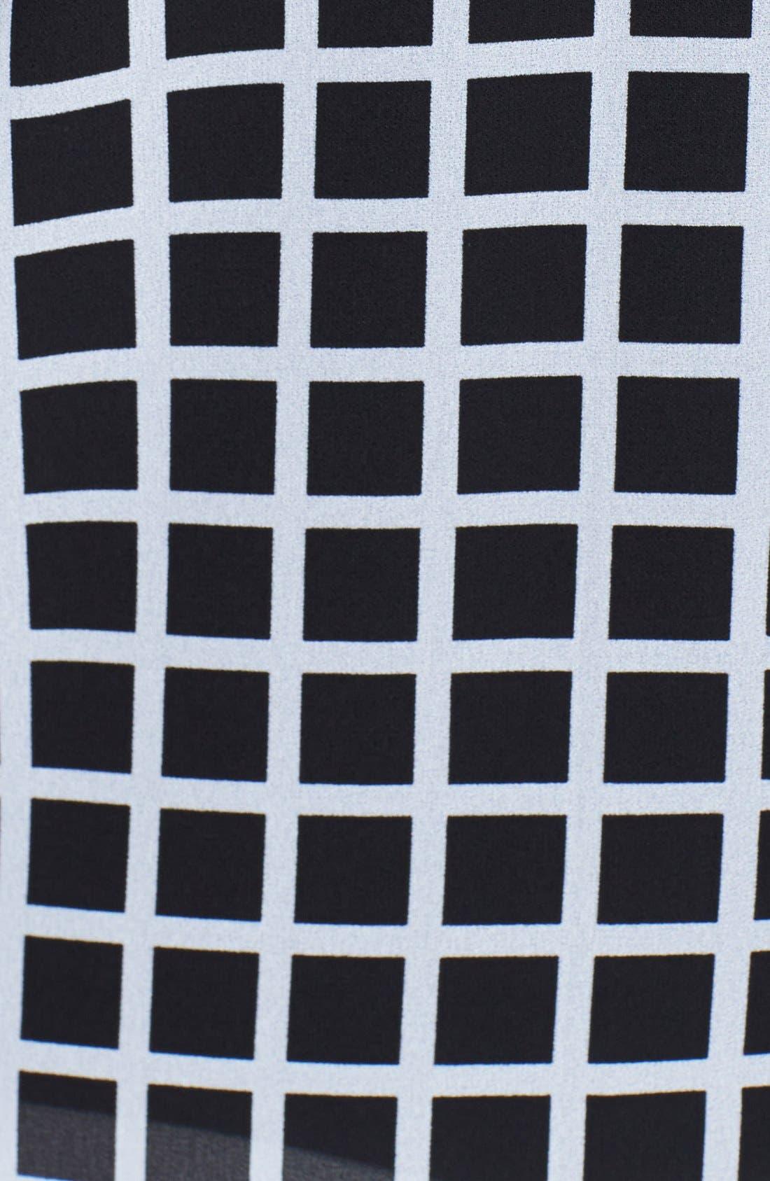 Alternate Image 3  - MICHAEL Michael Kors Zip Shoulder Print Georgette Blouse (Plus Size)