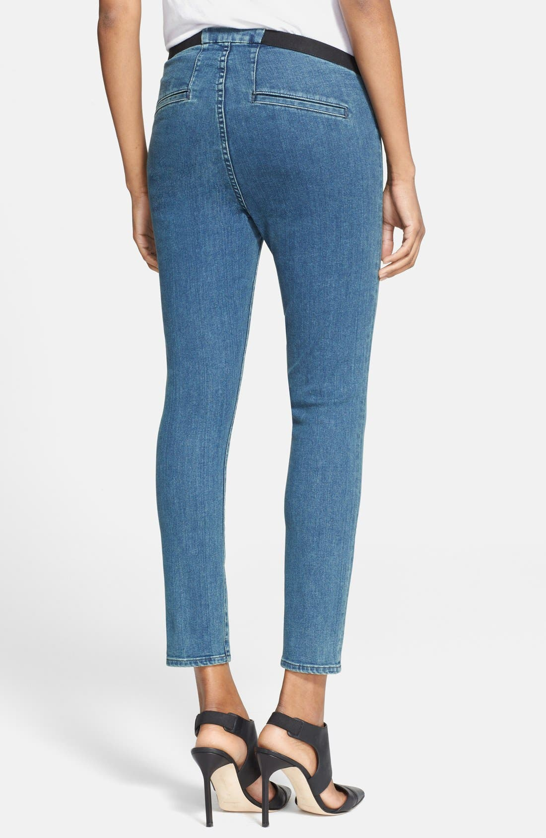 Alternate Image 2  - Helmut Lang 'Halo' Crop Denim Leggings