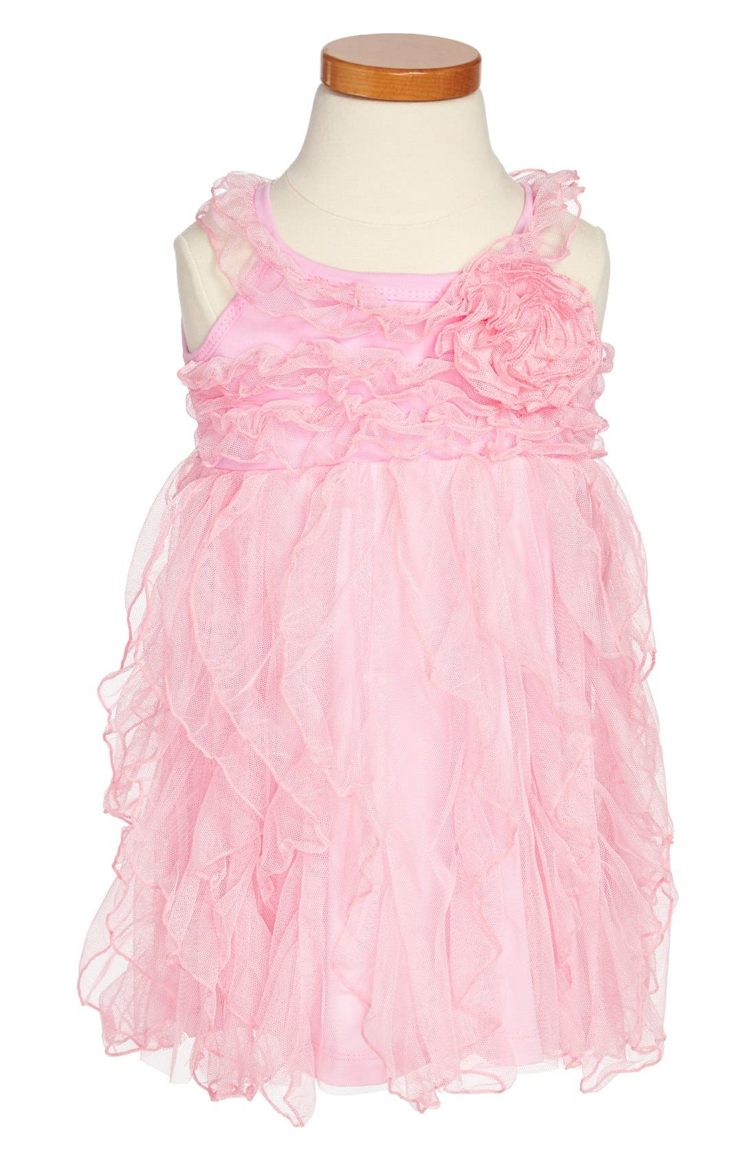 Alternate Image 1 Selected - Popatu Ruffle Dress (Toddler Girls)