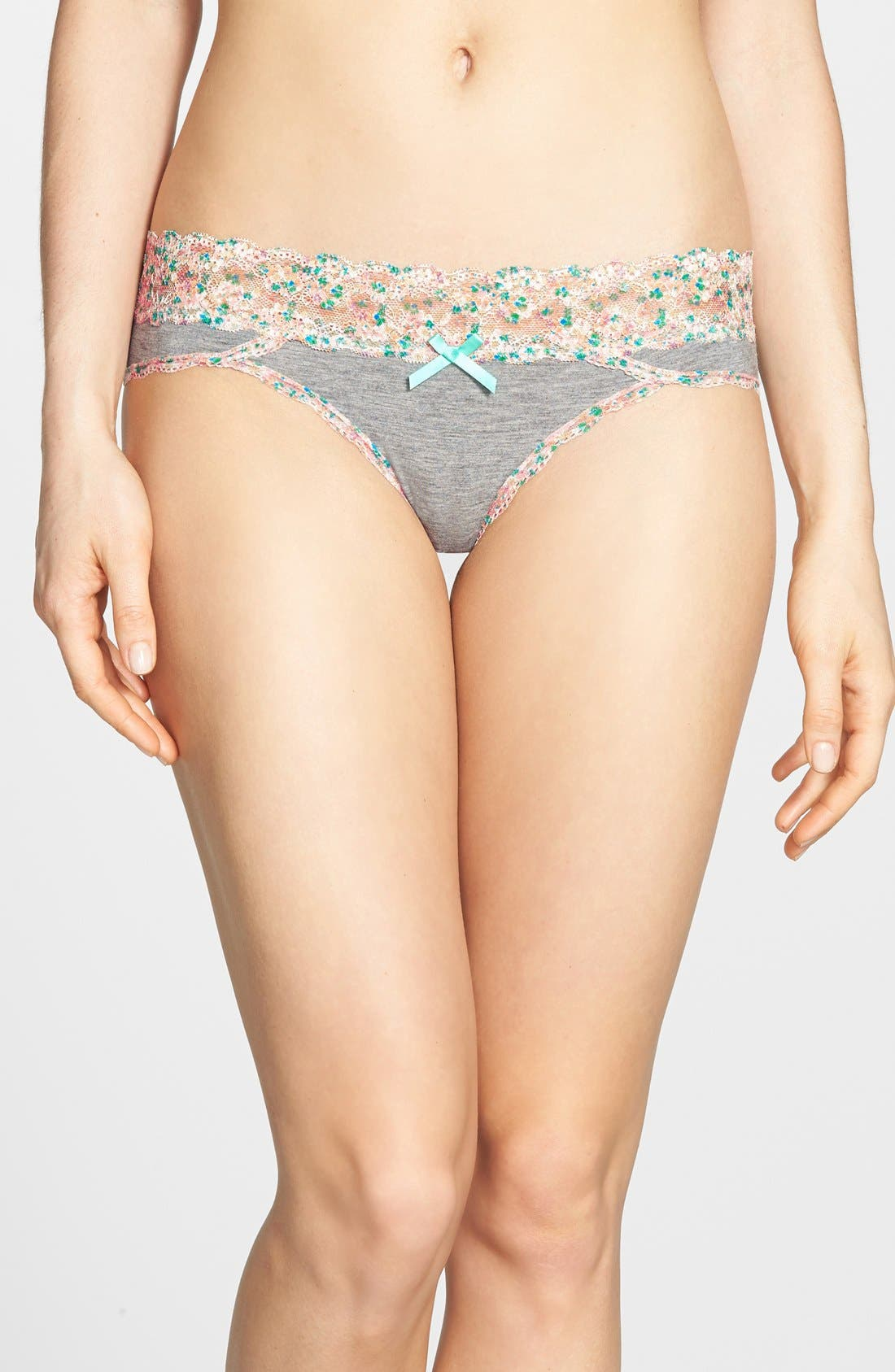Alternate Image 1 Selected - Honeydew Intimates 'Ahna' Lace Trim Print Hipster Briefs
