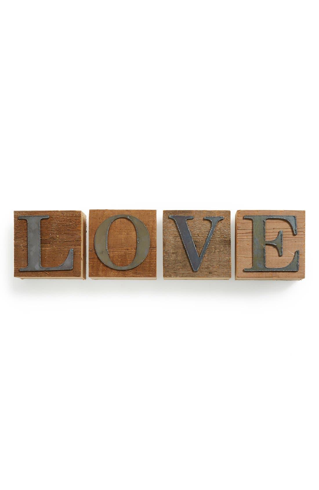 Main Image - Second Nature by Hand 'Love' Repurposed Wood Block Art