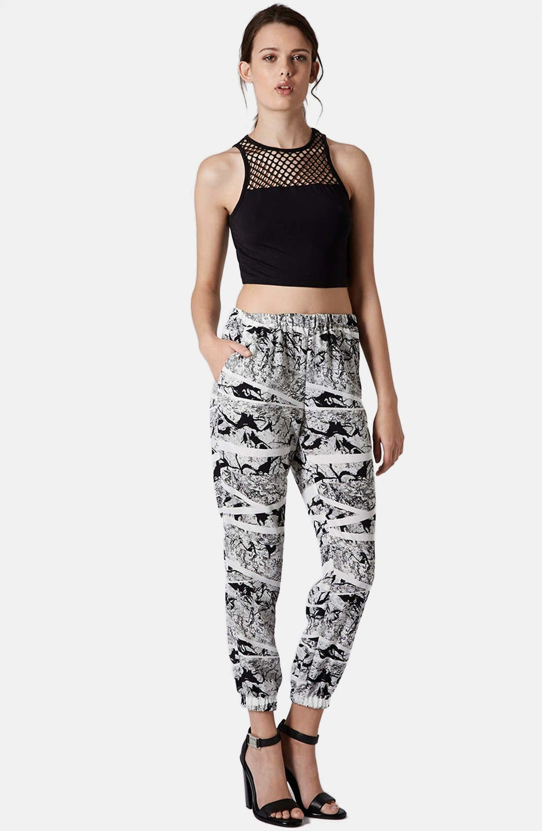 Alternate Image 5  - Topshop Mesh Yoke Crop Tank