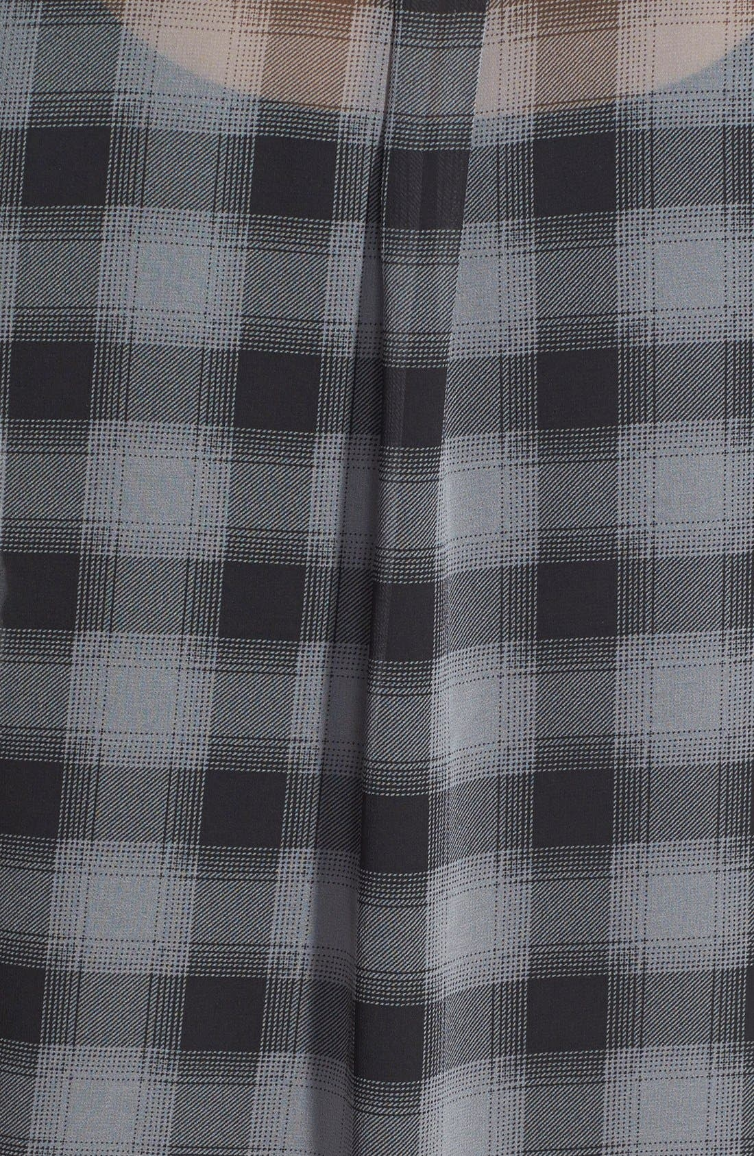 Alternate Image 3  - Halogen® Plaid Tunic Shirt (Regular & Petite)
