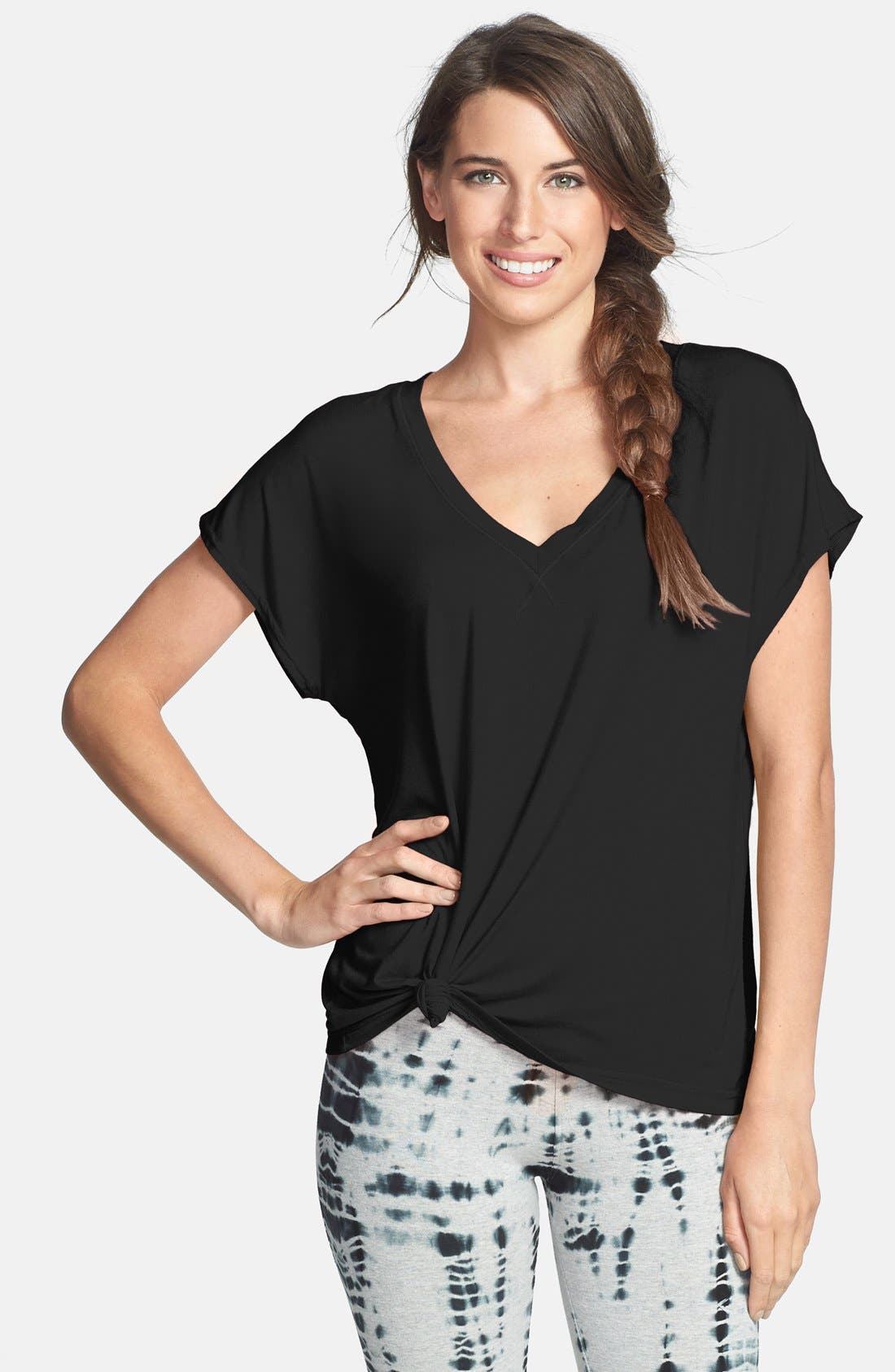 Alternate Image 1 Selected - Hard Tail 'Siro' Slouchy V-Neck Tee