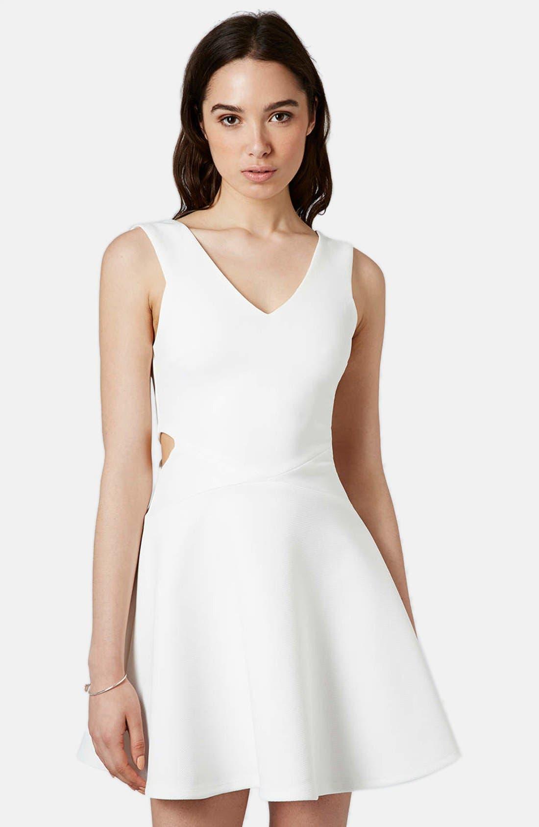 Main Image - Topshop Cutout Skater Dress