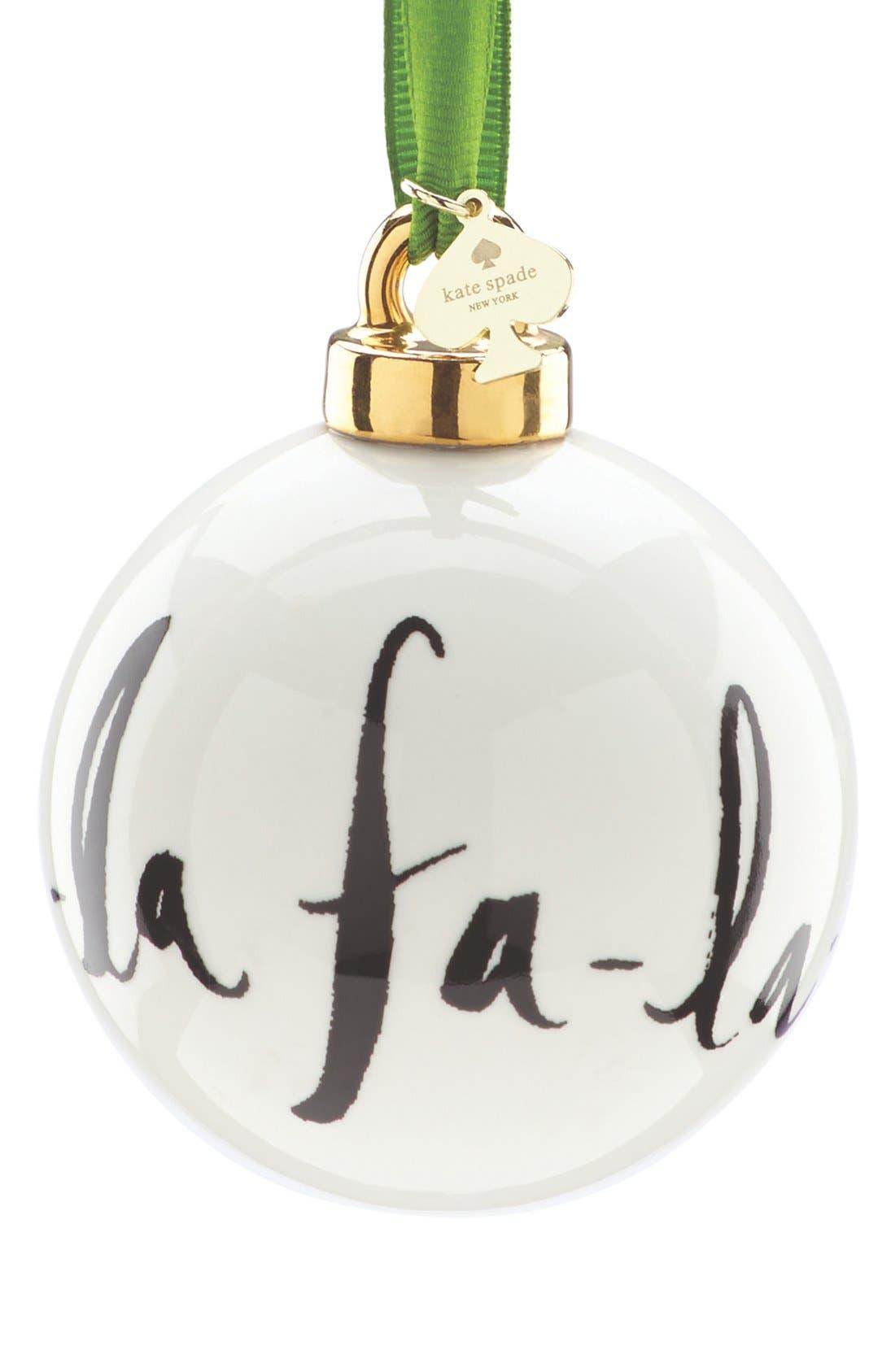 Main Image - kate spade new york 'fa-la-la' globe ornament