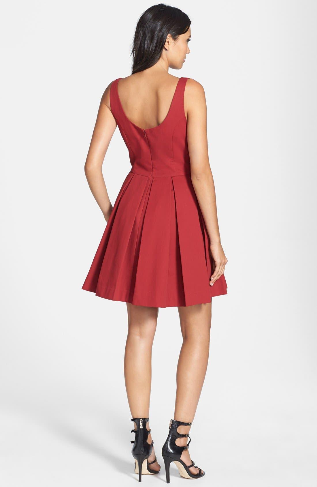 Alternate Image 2  - BB Dakota 'Dane' Pleat Fit & Flare Dress
