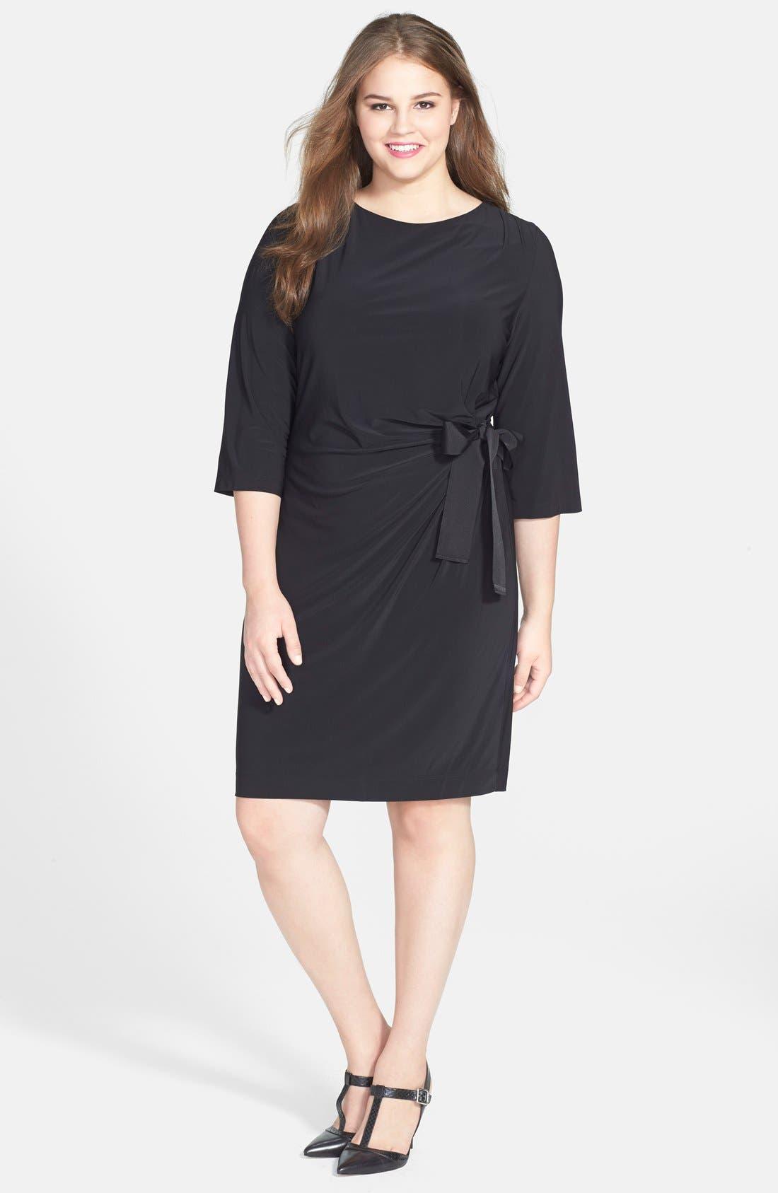 Alternate Image 4  - Taylor Dresses Faux Wrap Dress (Plus Size)