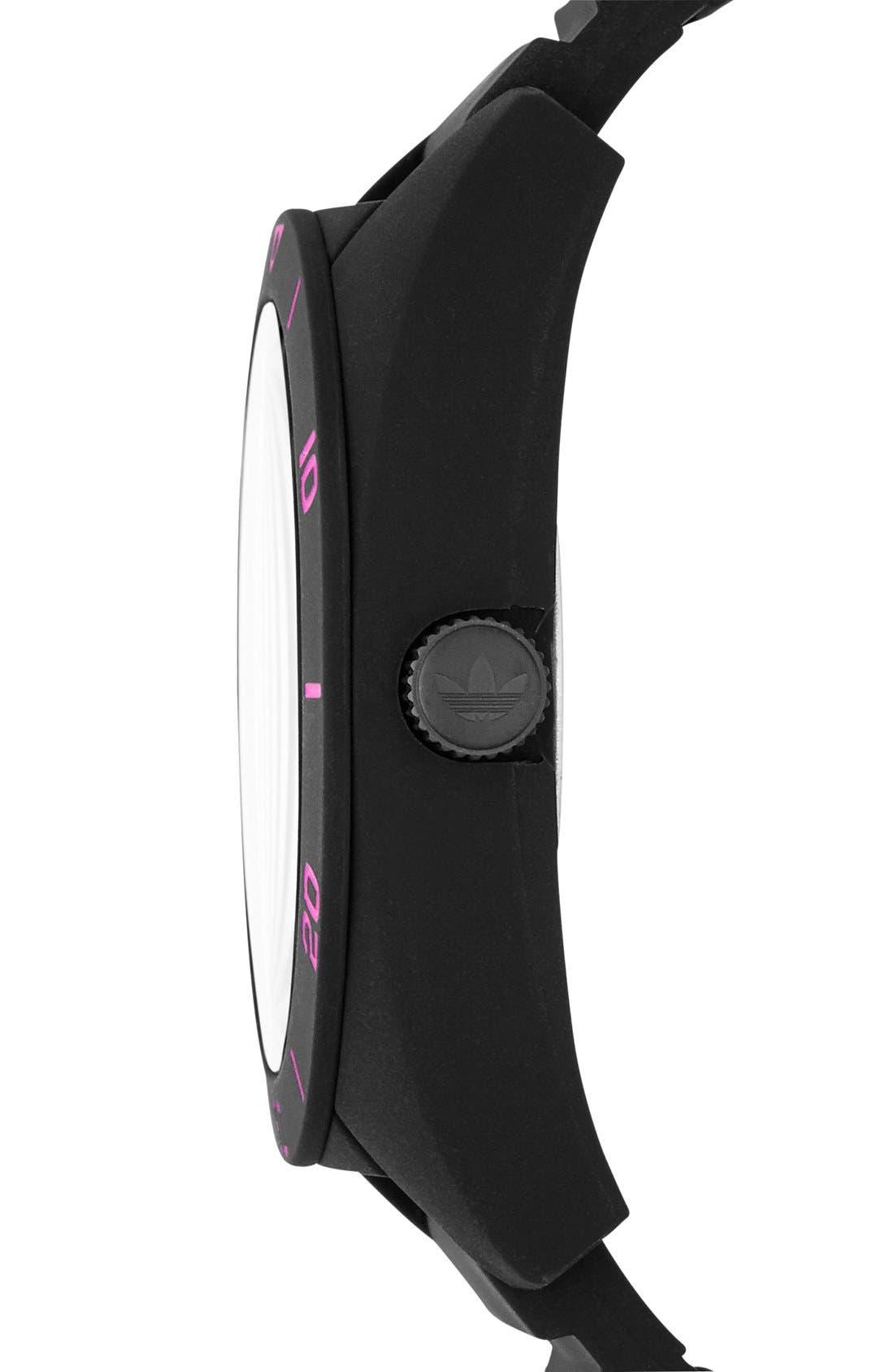 Alternate Image 3  - adidas Originals 'Santiago XL' Silicone Strap Watch, 50mm