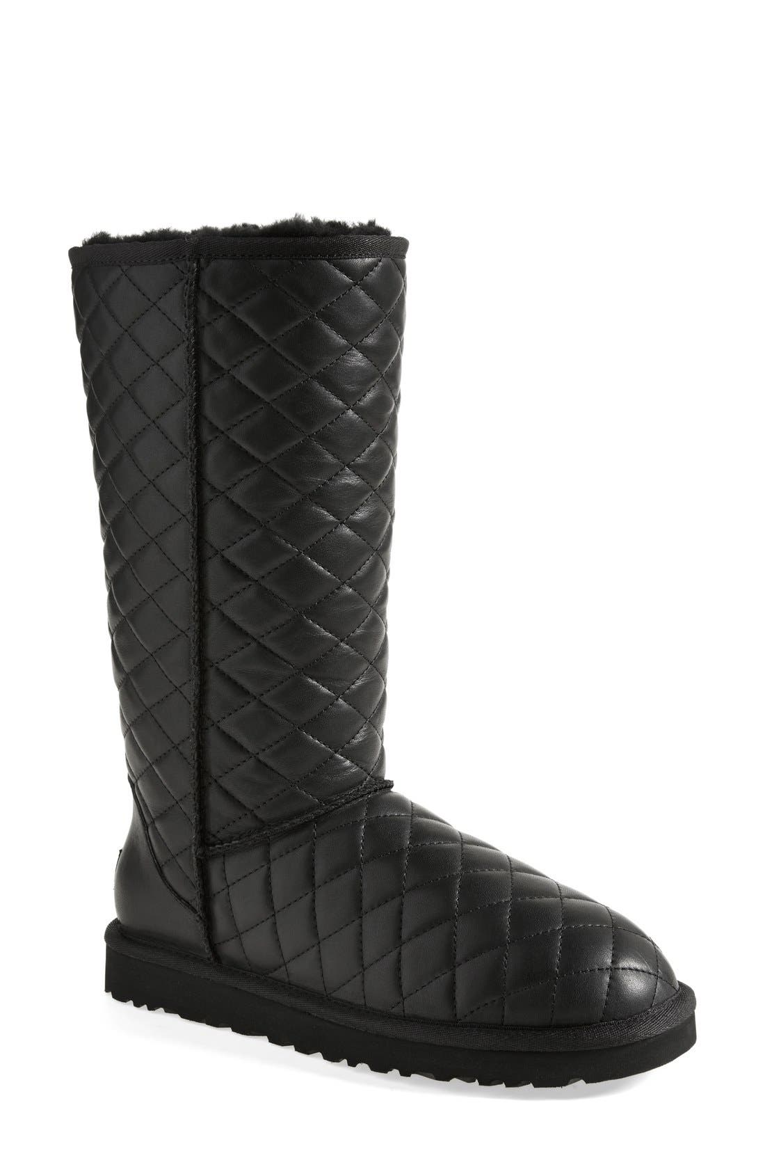 Alternate Image 1 Selected - UGG® 'Classic - Tall' Diamond Quilted Boot (Women)