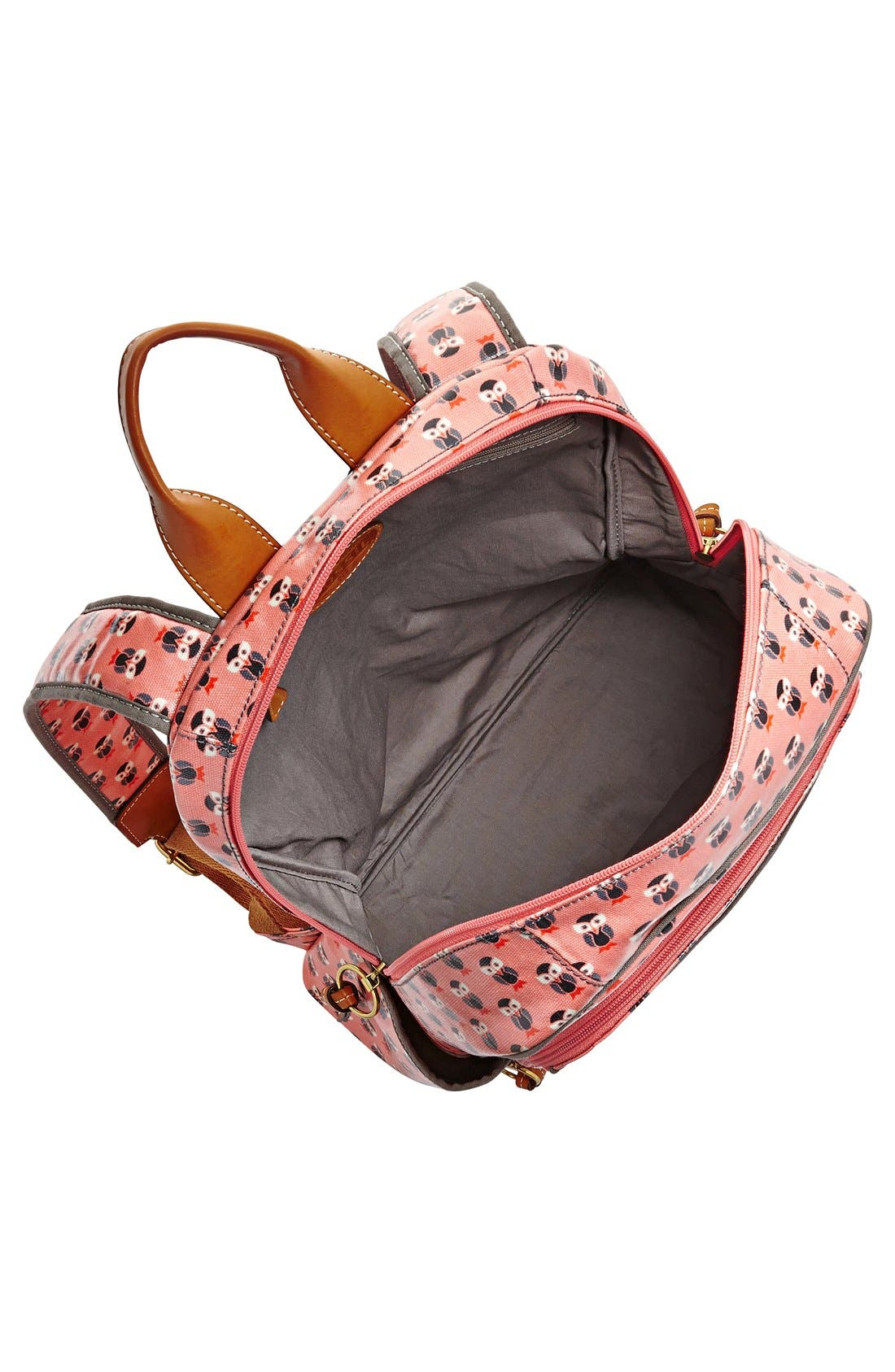 Alternate Image 3  - Fossil 'Key-Per' Print Coated Canvas Backpack