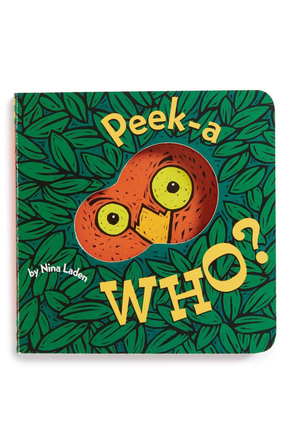 Alternate Image 1 Selected - 'Peek-a Who?' Board Book