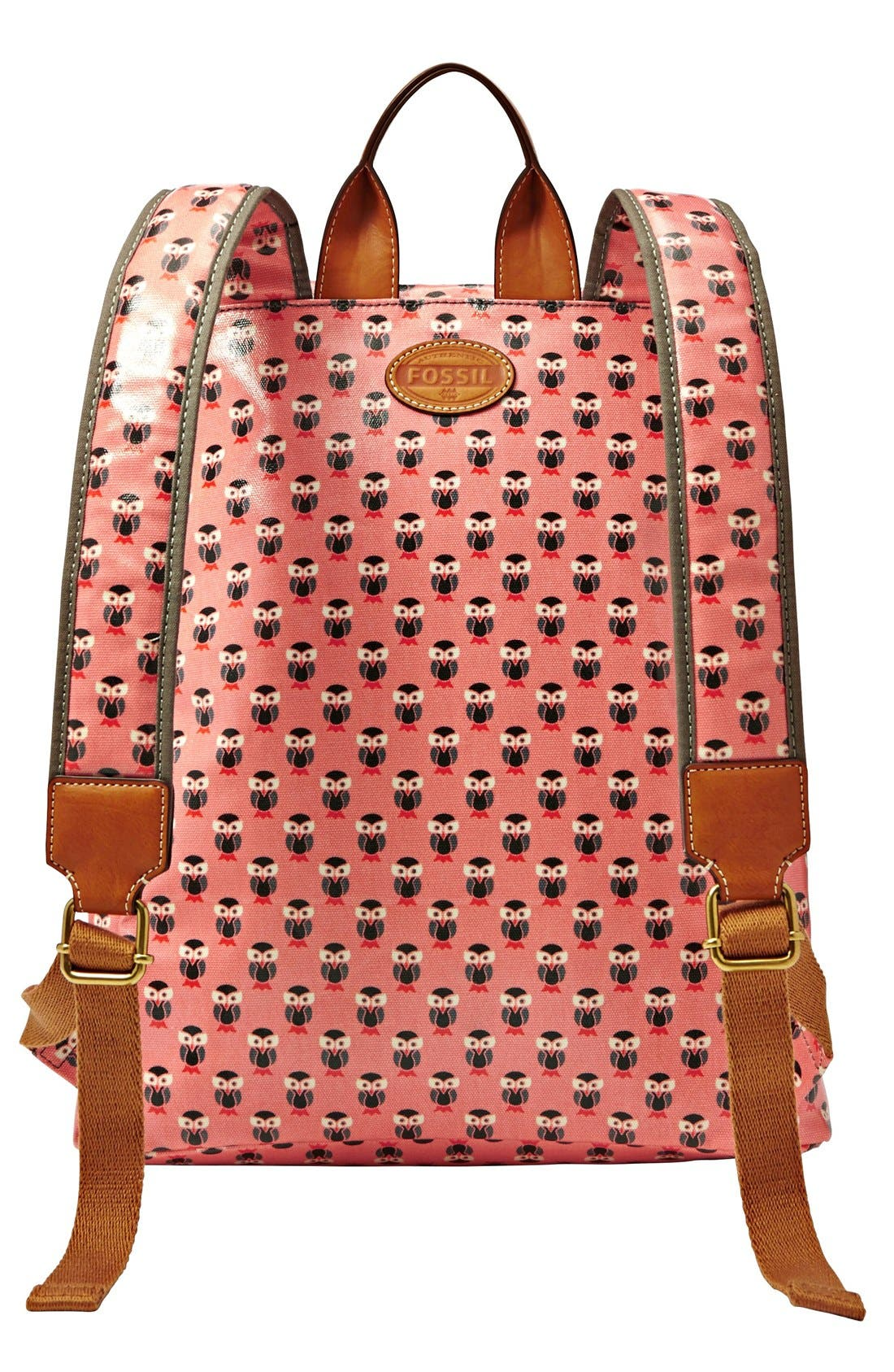 Alternate Image 2  - Fossil 'Key-Per' Print Coated Canvas Backpack