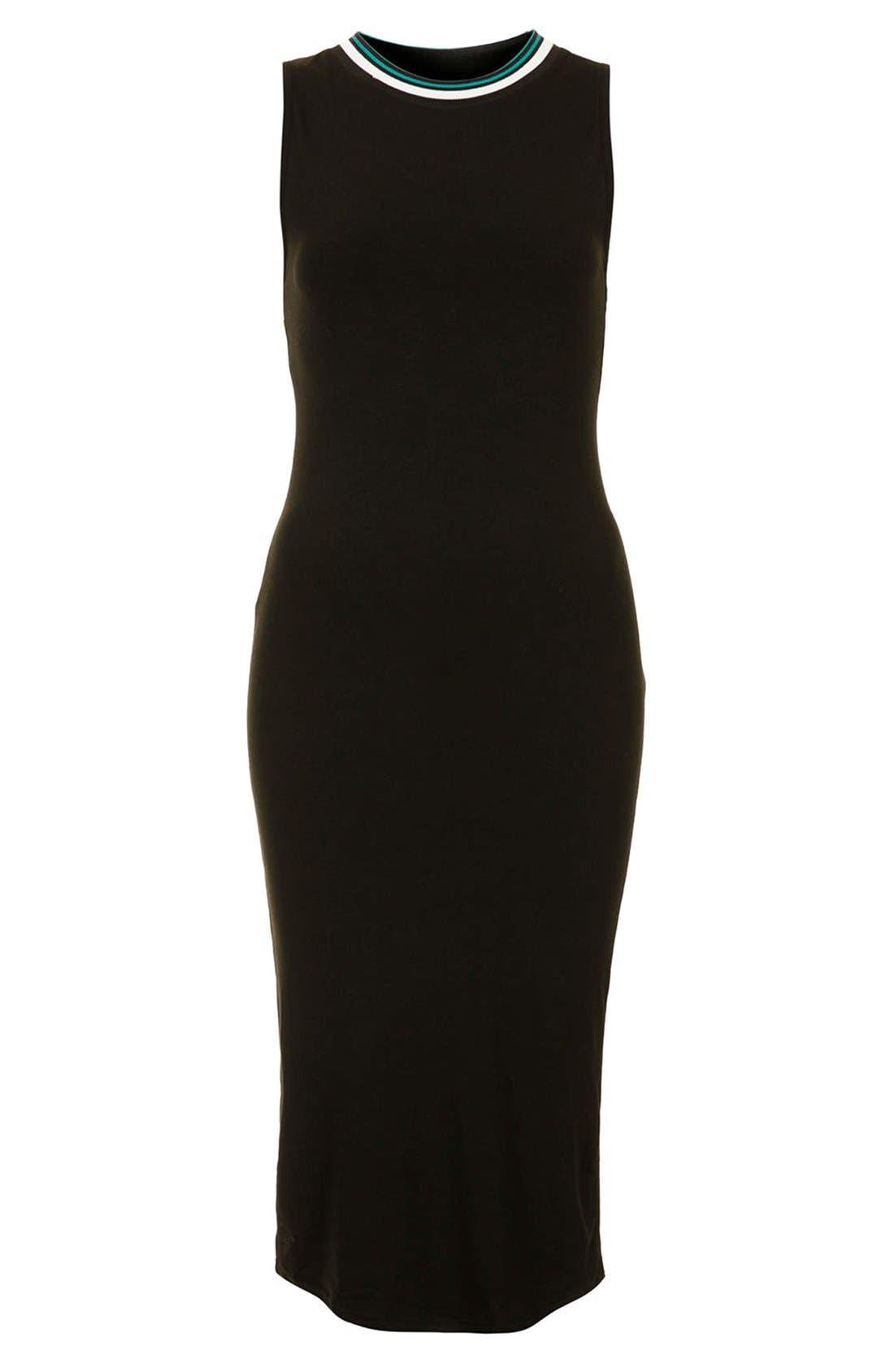 Alternate Image 3  - Topshop Contrast Trim Jersey Midi Dress
