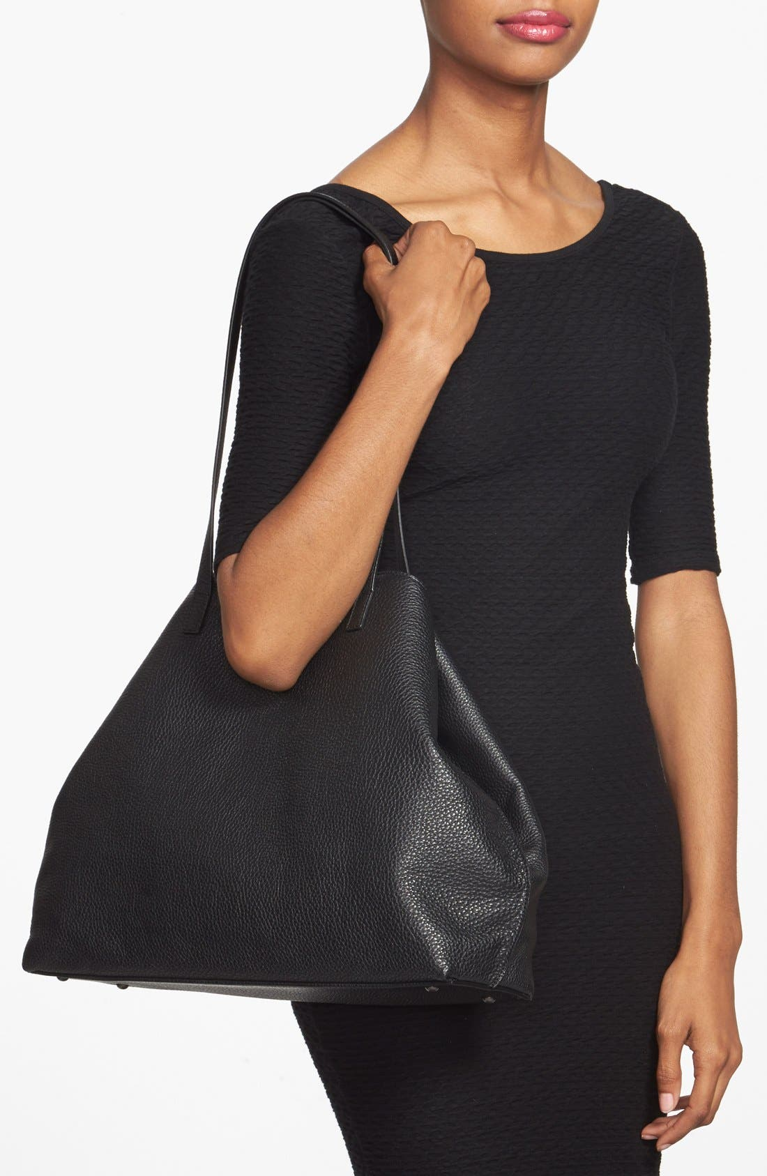 Alternate Image 2  - Akris 'Ai Medium Shoulder Tote' Leather Shoulder Tote