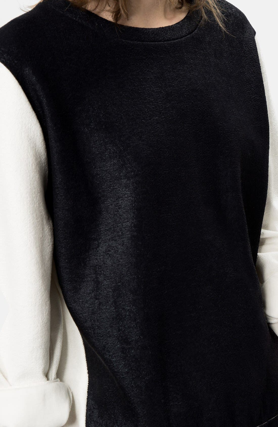 Alternate Image 3  - maje 'Globule' Colorblock Sweatshirt