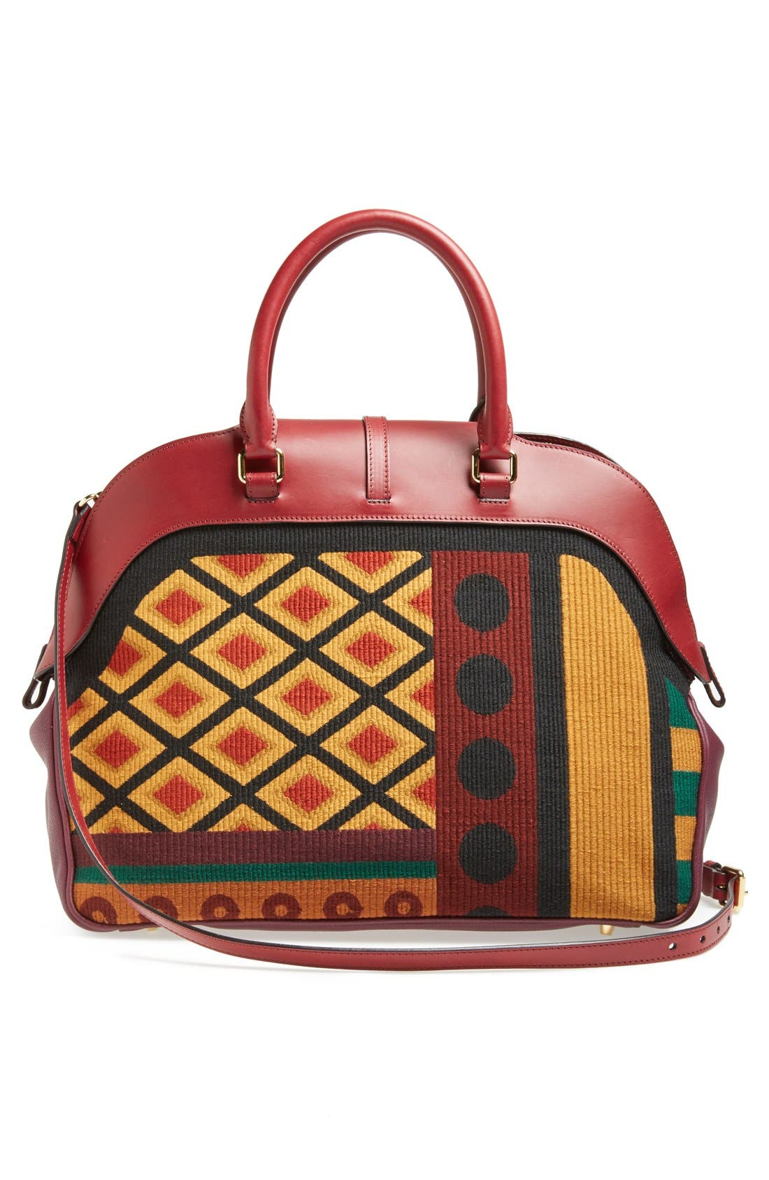Alternate Image 4  - Burberry 'Large Milverton' Geometric Tapestry Bowling Bag