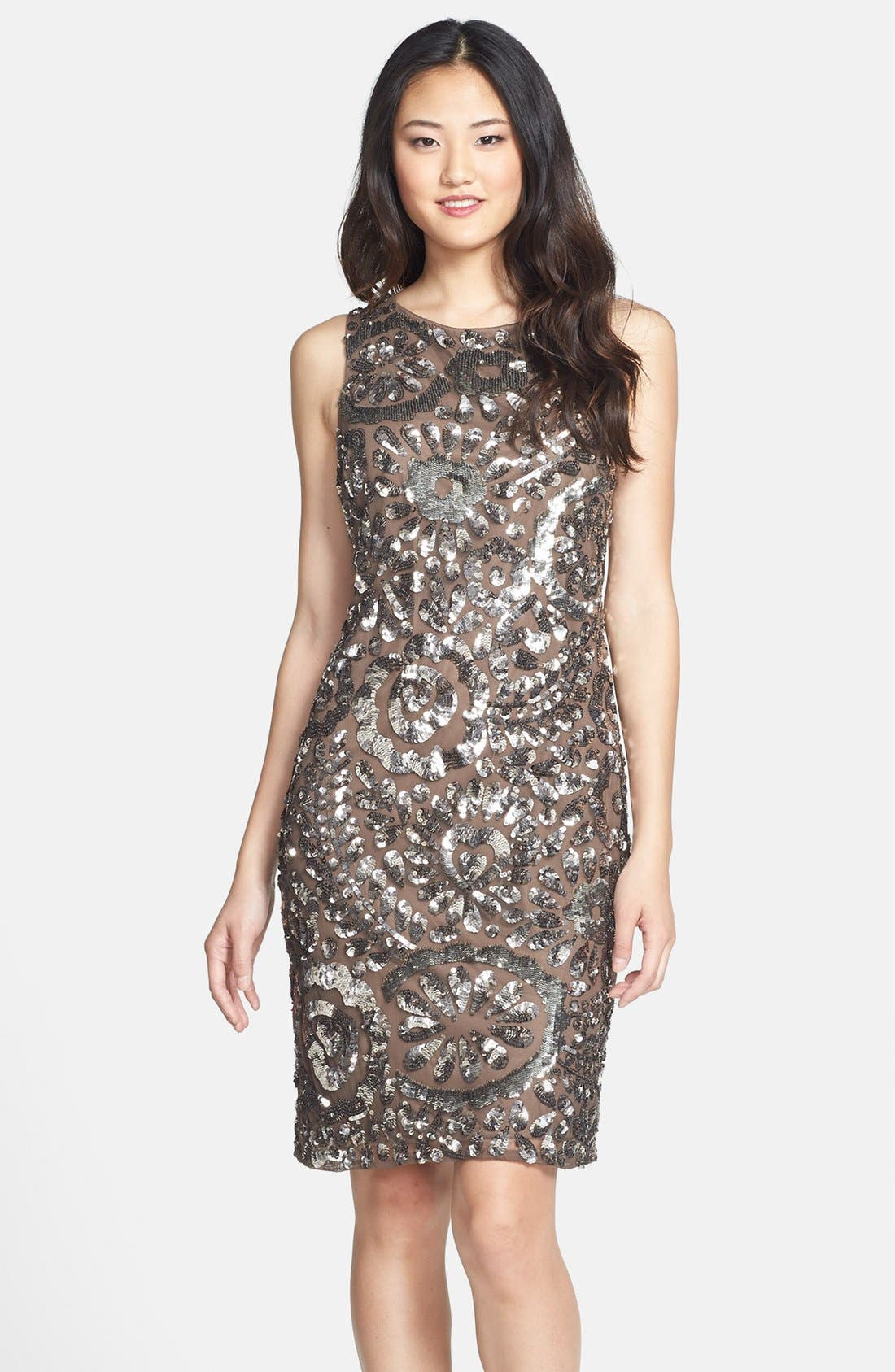 Main Image - Pisarro Nights Sequin Sheath Dress