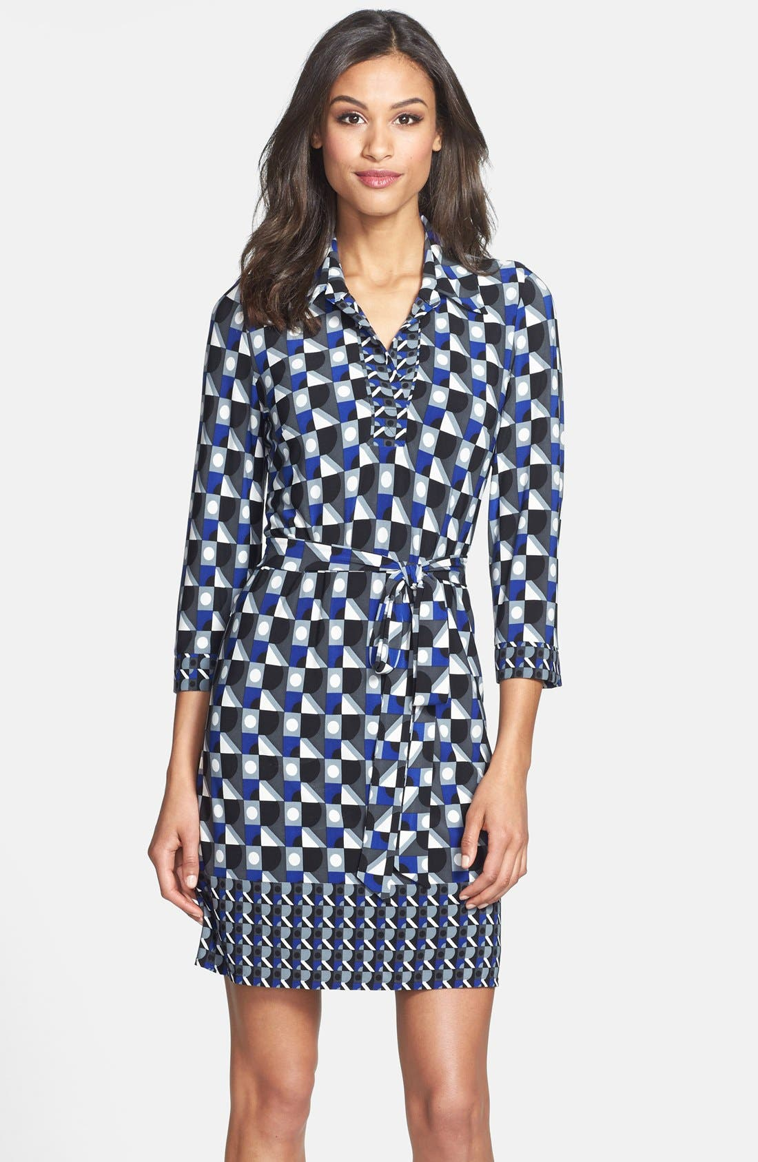 Main Image - Laundry by Shelli Segal Matte Jersey Shirtdress