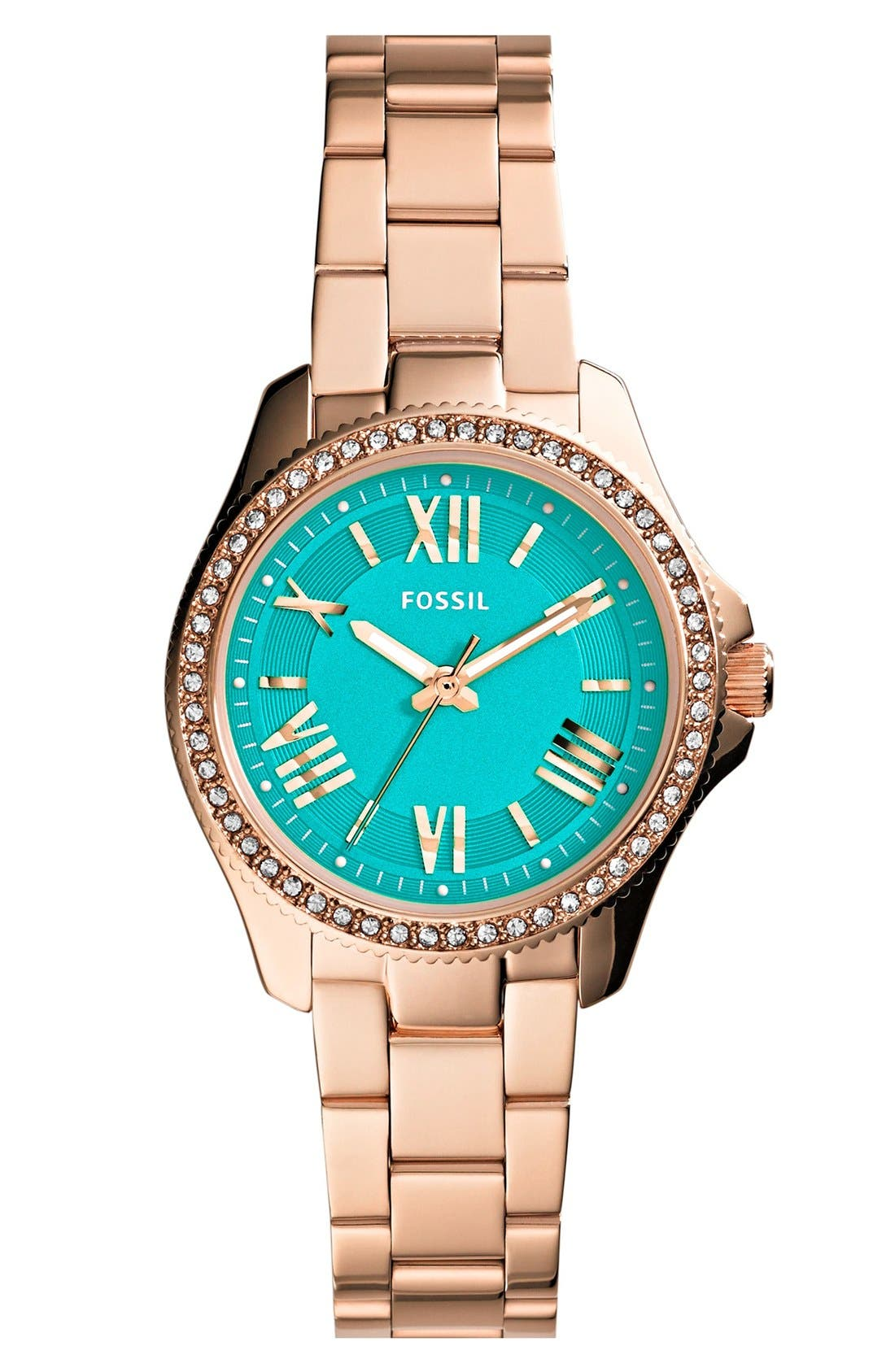 Main Image - Fossil 'Cecile' Top Ring Bracelet Watch, 29mm