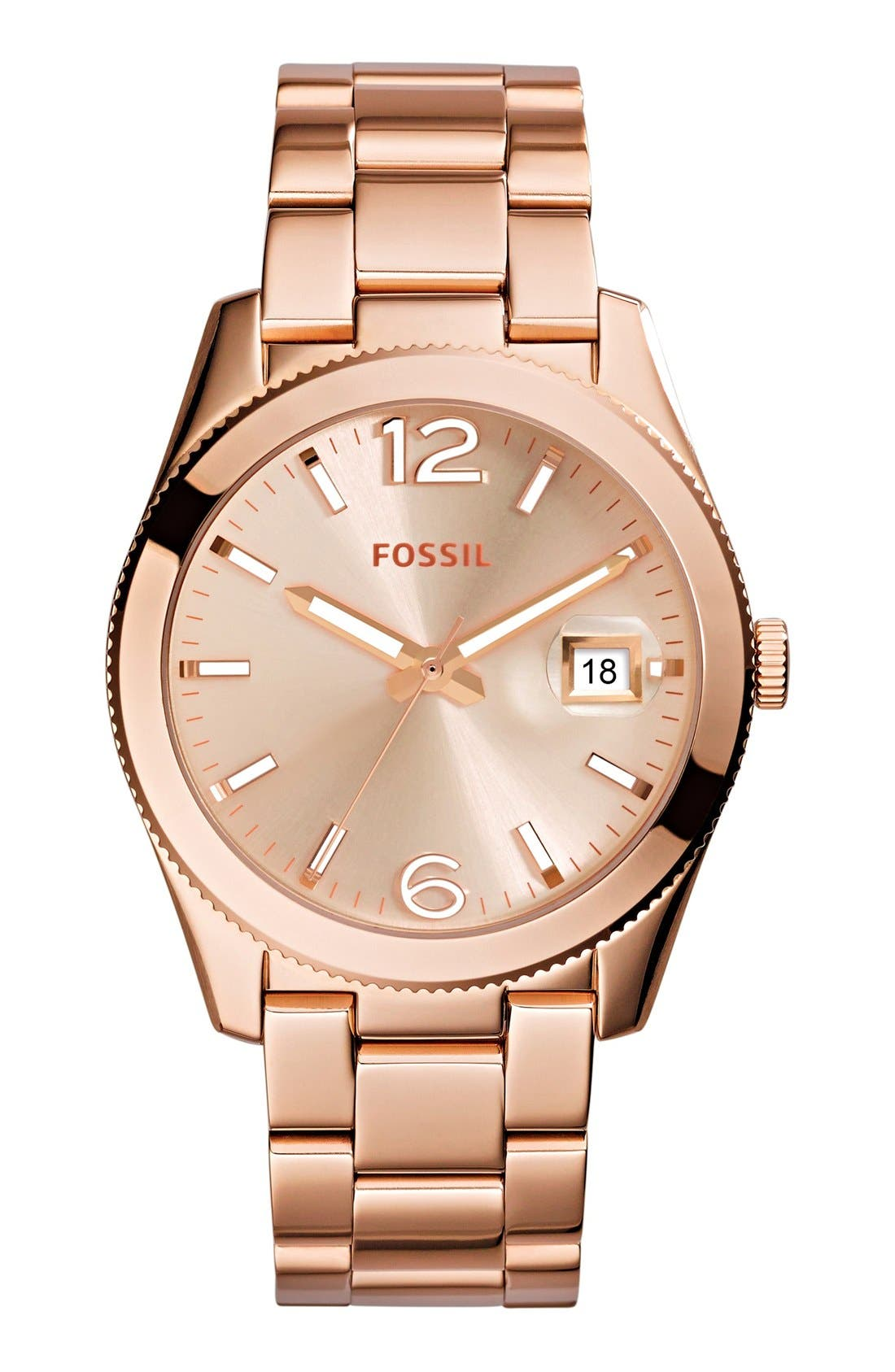Main Image - Fossil Perfect Boyfriend Bracelet Watch, 39mm