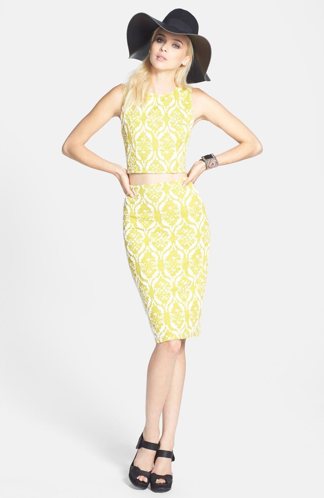 Alternate Image 4  - Lucy Paris Textured Tube Skirt