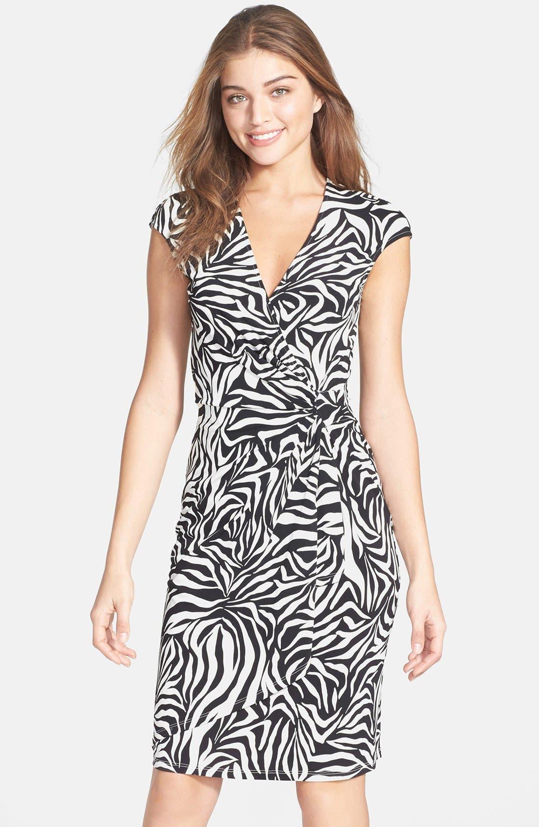 Main Image - Maggy London Print Jersey Sheath Dress
