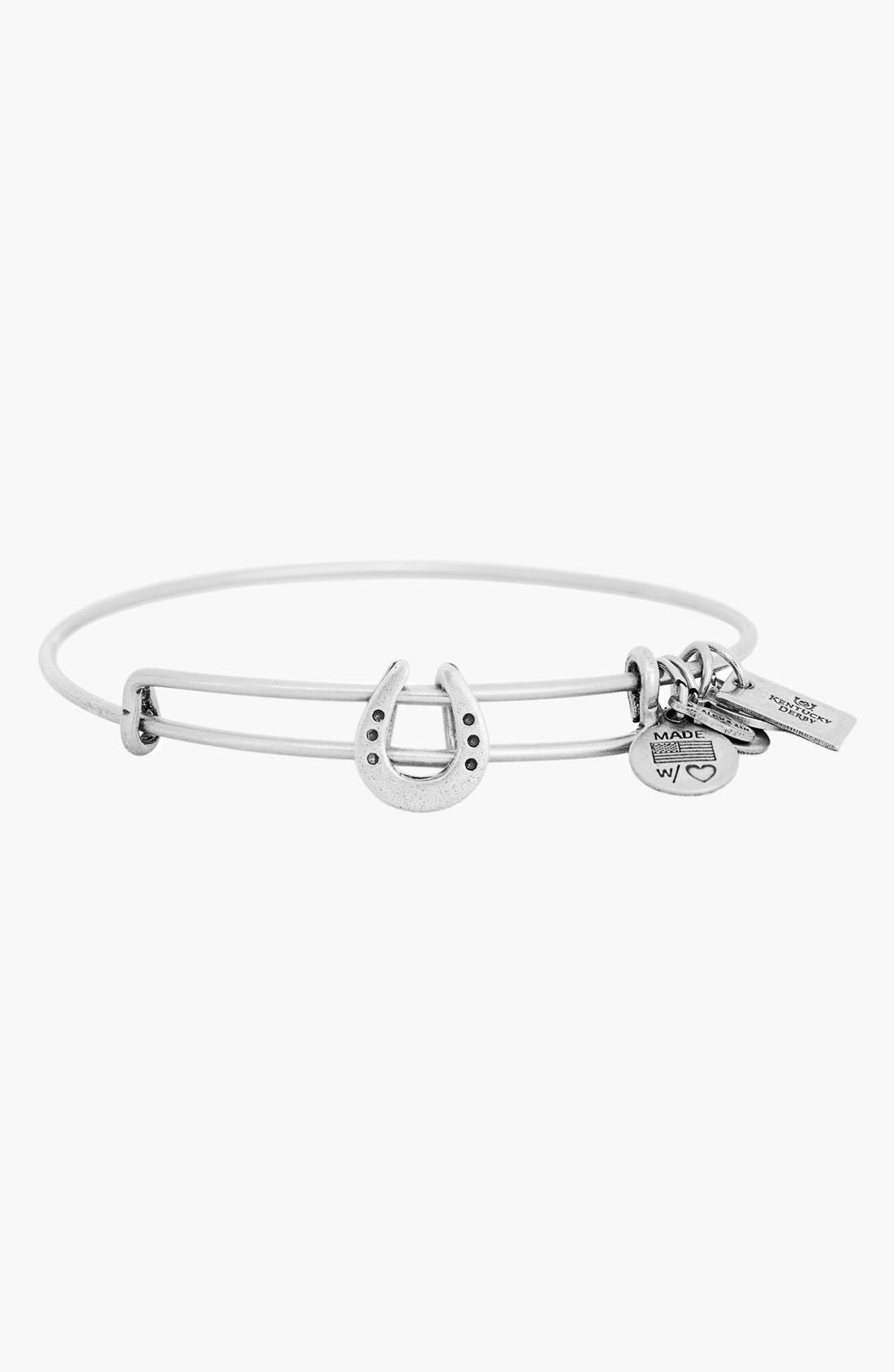 Alternate Image 1 Selected - Alex and Ani 'Kentucky Derby - Horse Shoe' Expandable Wire Bangle