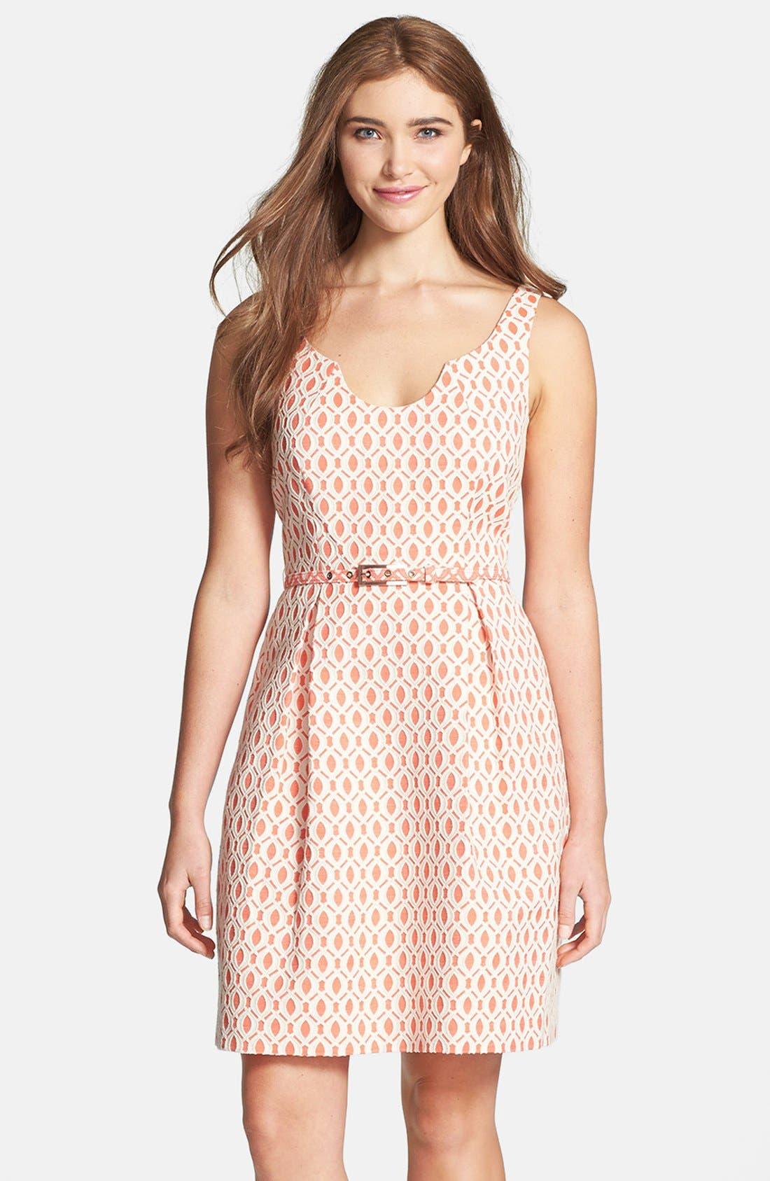 Alternate Image 1 Selected - Trina Turk 'Solage' Jacquard Fit & Flare Dress