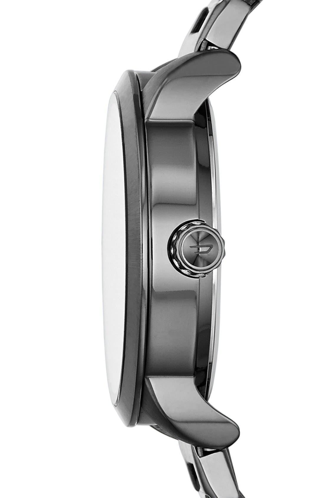 Alternate Image 3  - DIESEL® 'Flare' Textured Dial Bracelet Watch, 38mm