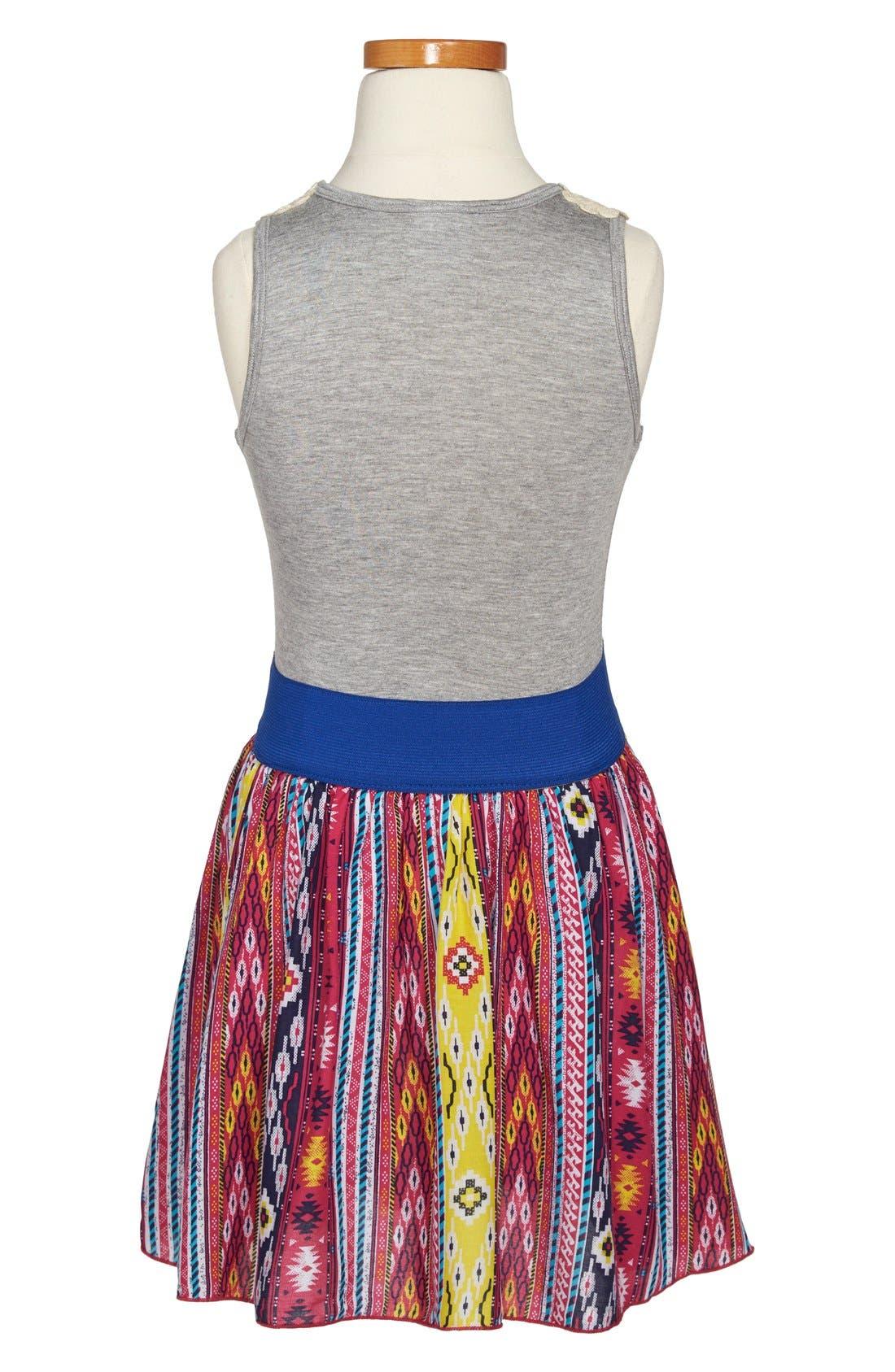 Alternate Image 2  - Twirls & Twigs 'Cluney' Sleeveless Dress (Little Girls & Big Girls)