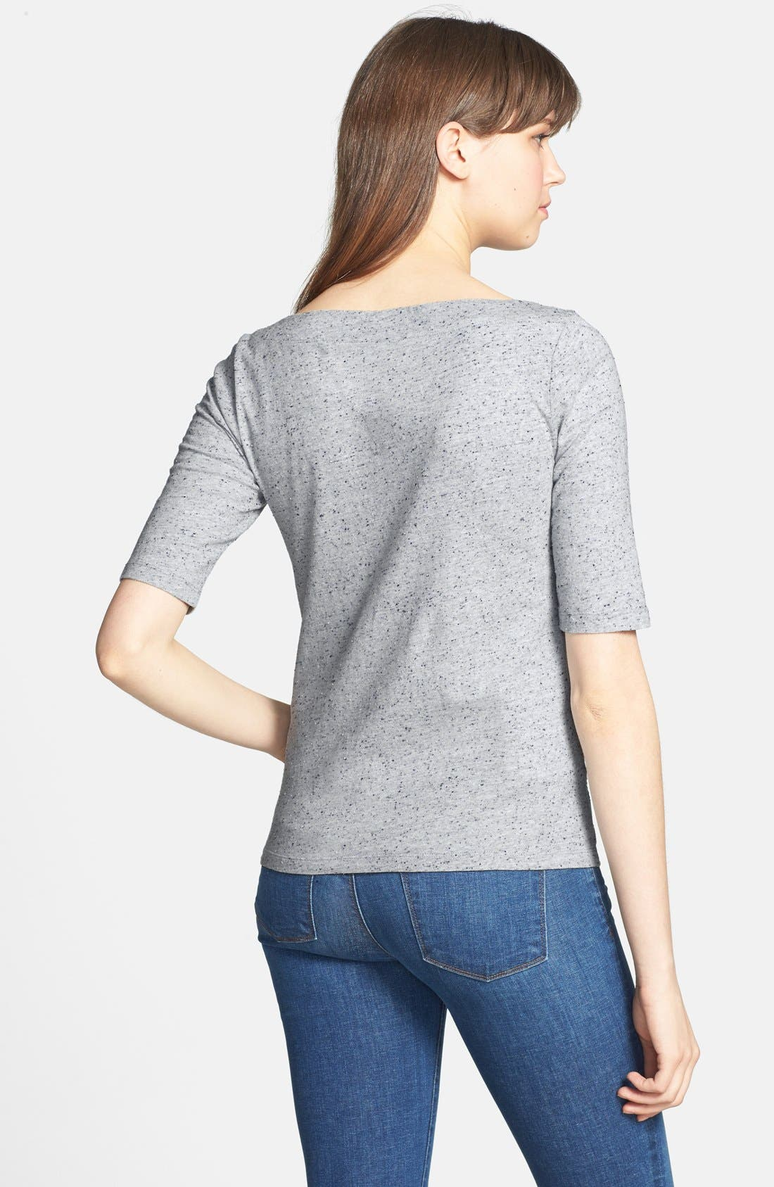 Alternate Image 2  - Lucky Brand 'Faye' Embroidered Boatneck Tee