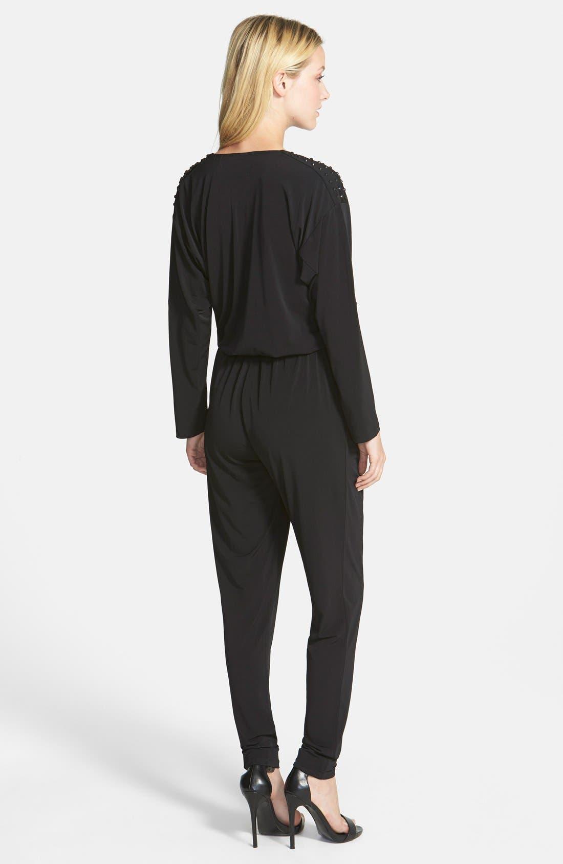 Alternate Image 2  - MICHAEL Michael Kors Studded Roll Sleeve Jumpsuit