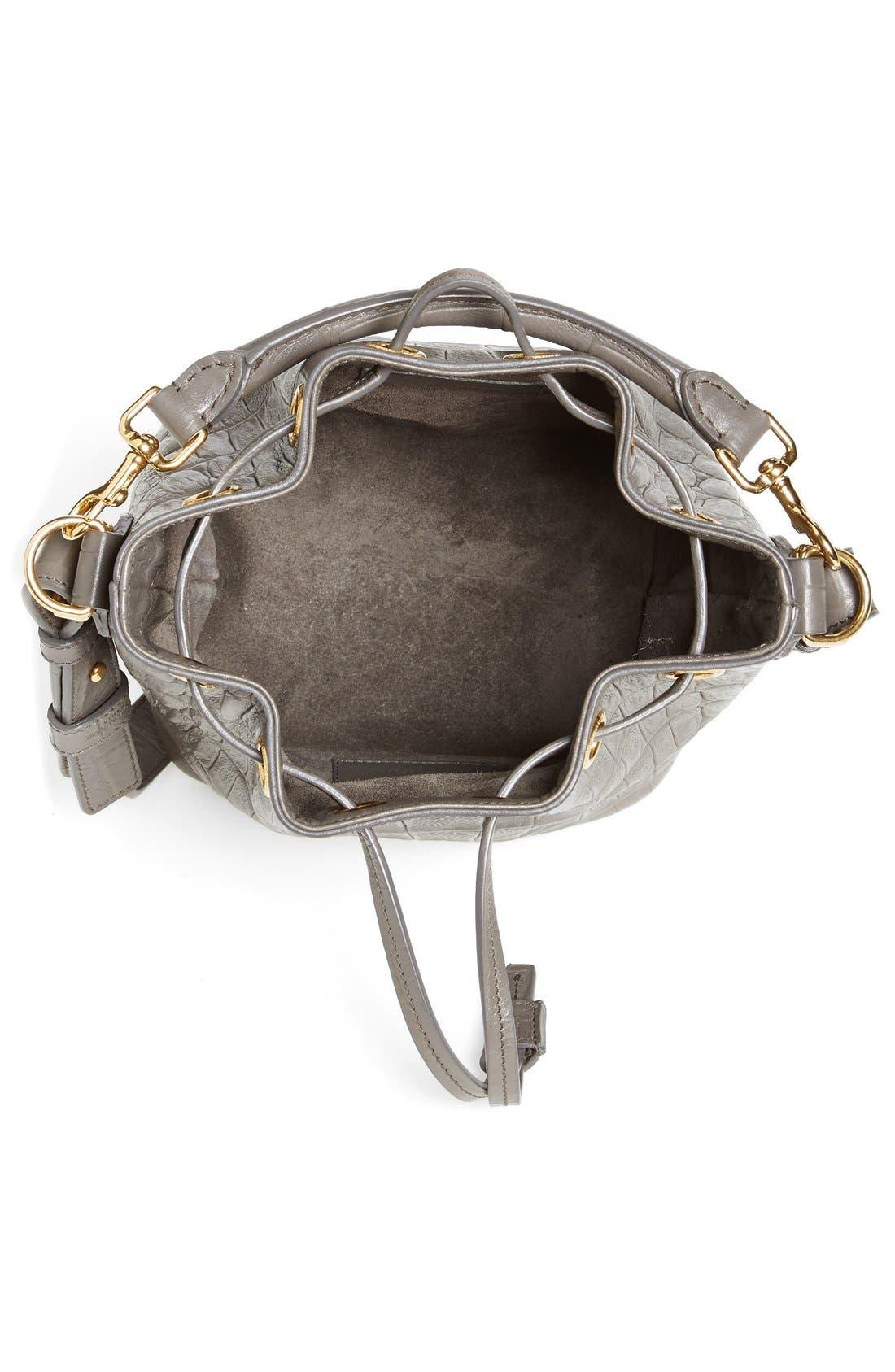 Alternate Image 2  - Saint Laurent 'Small Seau' Croc Embossed Leather Bucket Bag