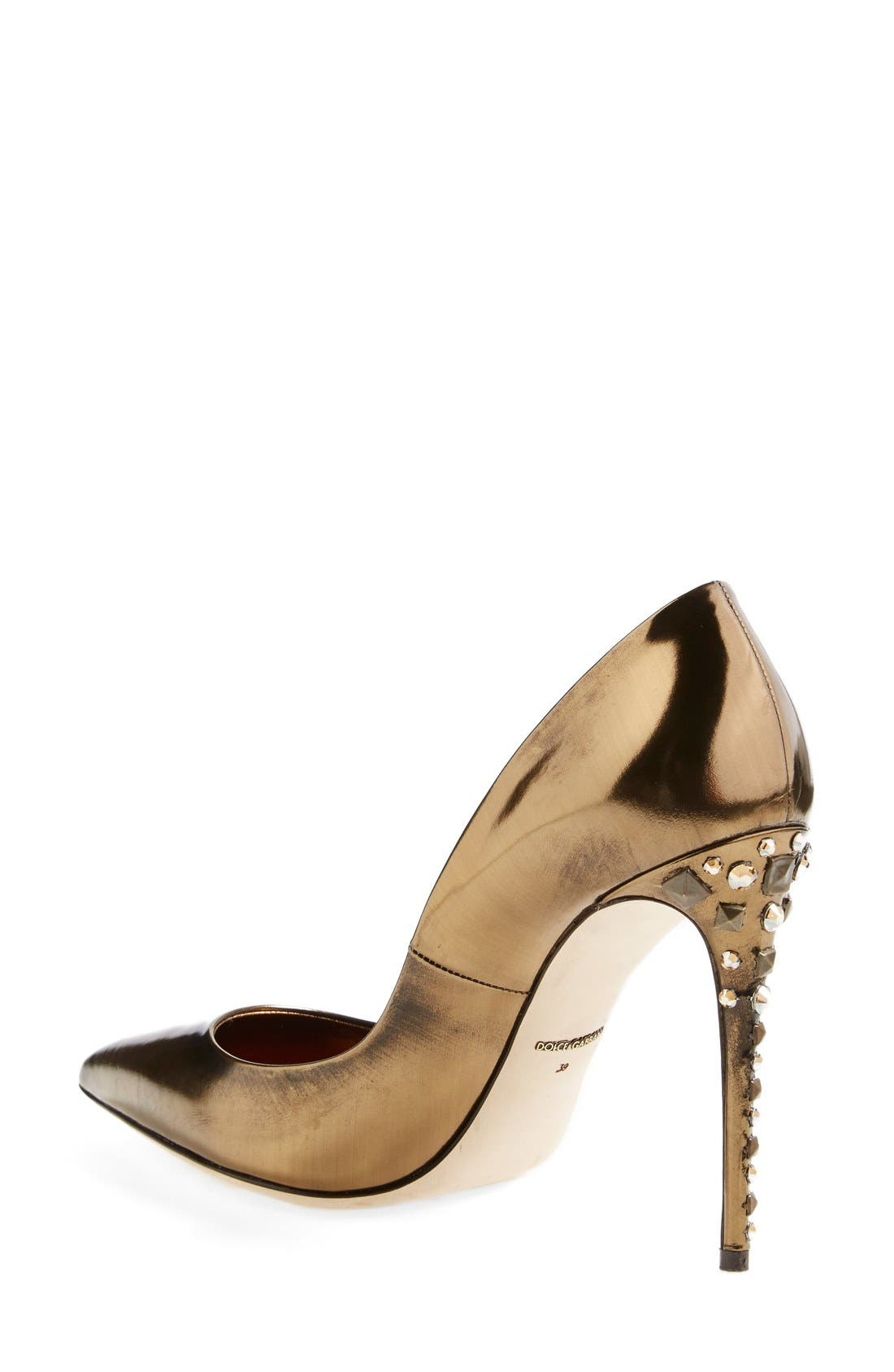 Alternate Image 2  - Dolce&Gabbana Studded Heel Pump (Women)