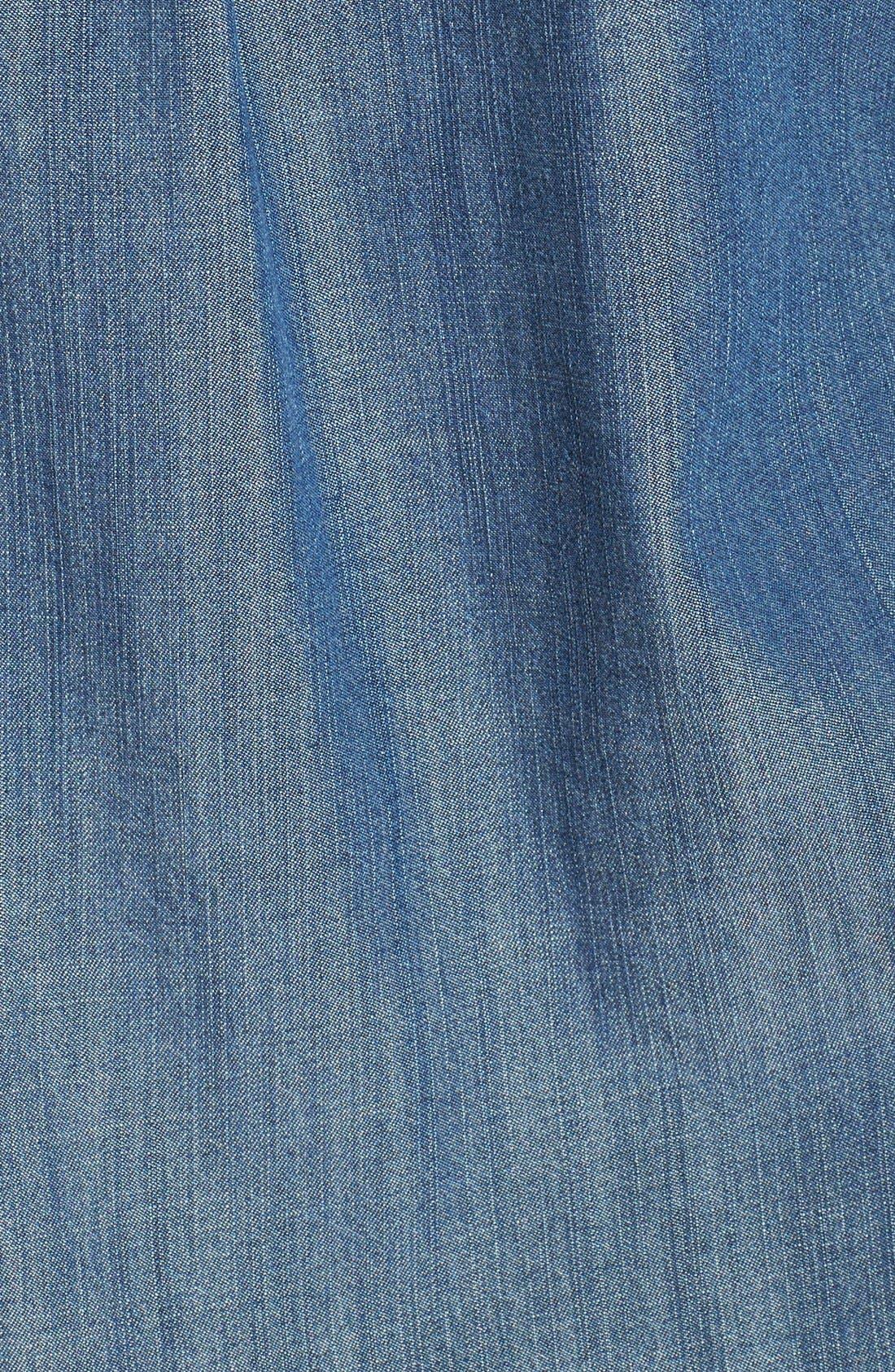 Alternate Image 3  - Eileen Fisher Classic Collar Denim Chambray Shirt (Petite)