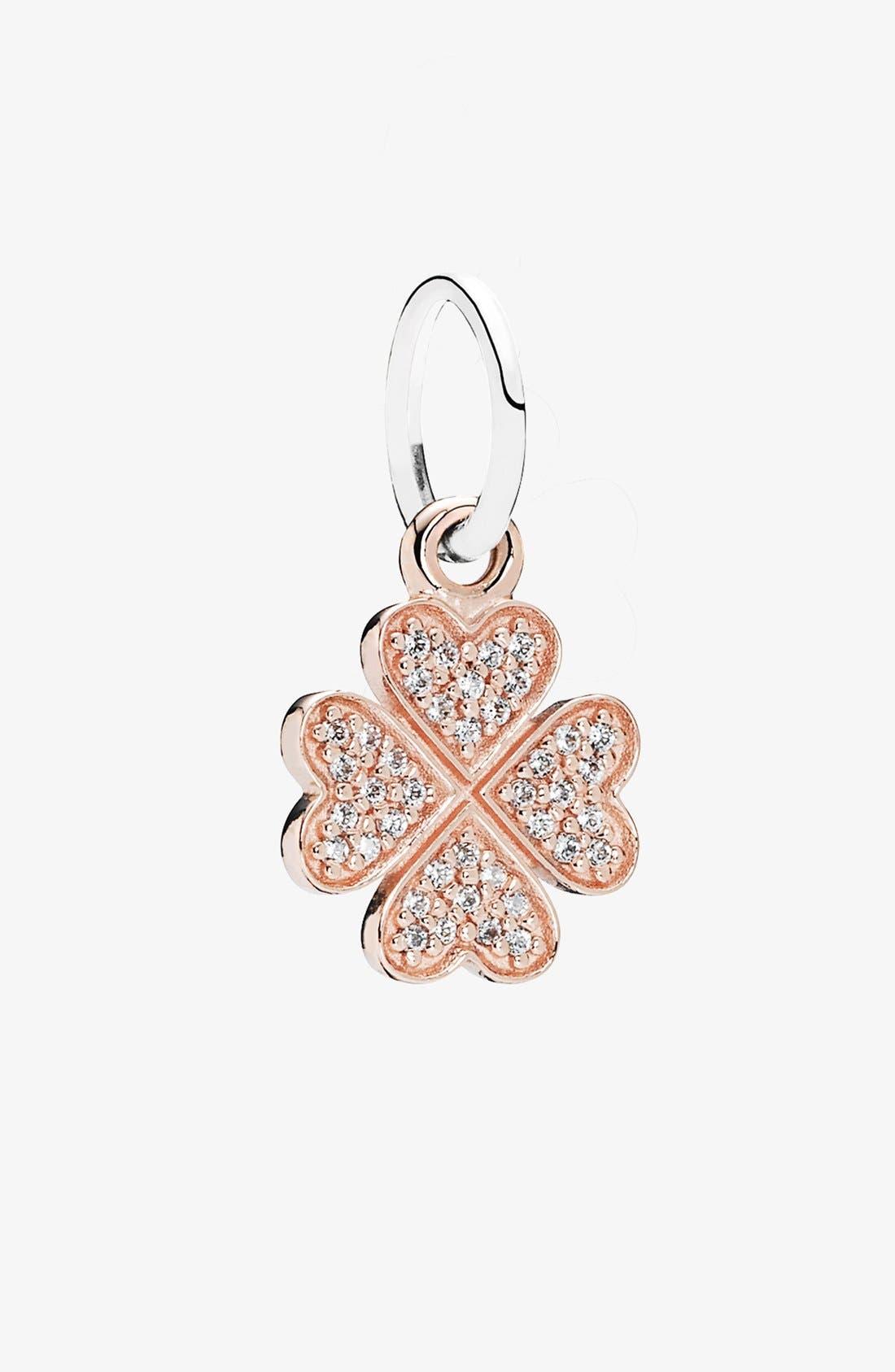Main Image - PANDORA 'Symbol of Lucky in Love' Shamrock Dangle Charm