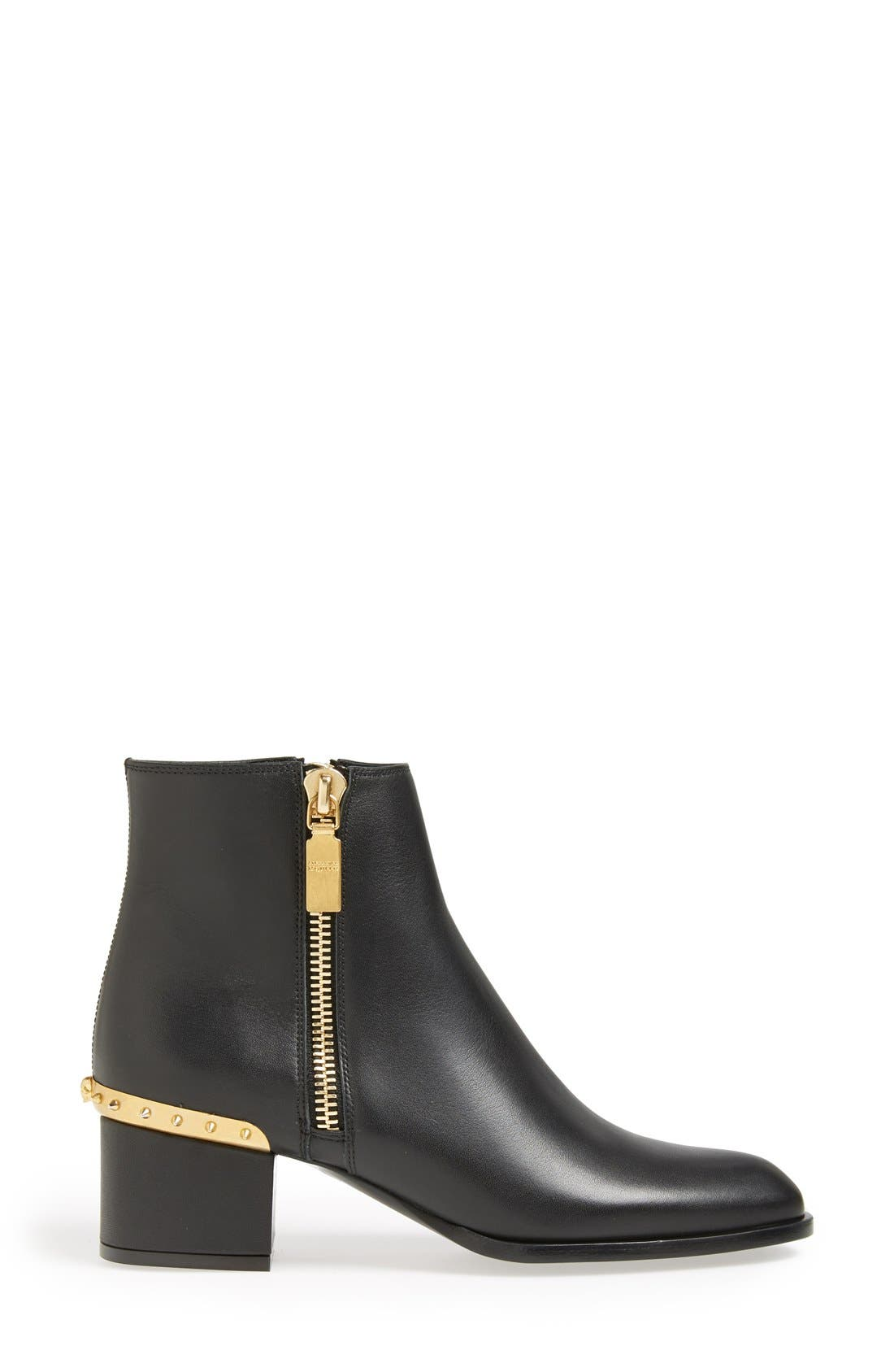 Alternate Image 4  - Alexander McQueen Spike Short Boot (Women)