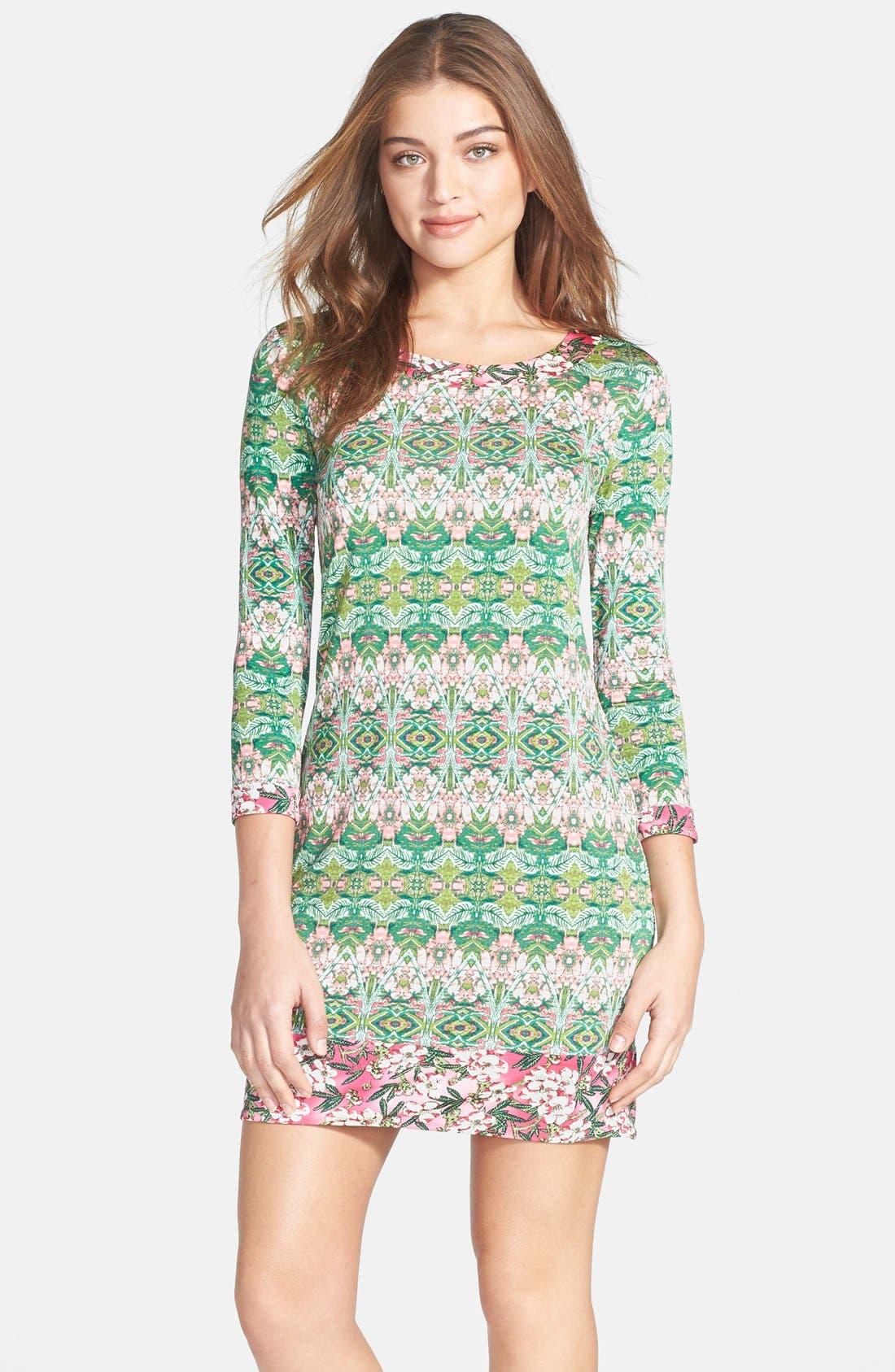 Alternate Image 1 Selected - BCBGMAXAZRIA 'Ania' Print Jersey Shift Dress